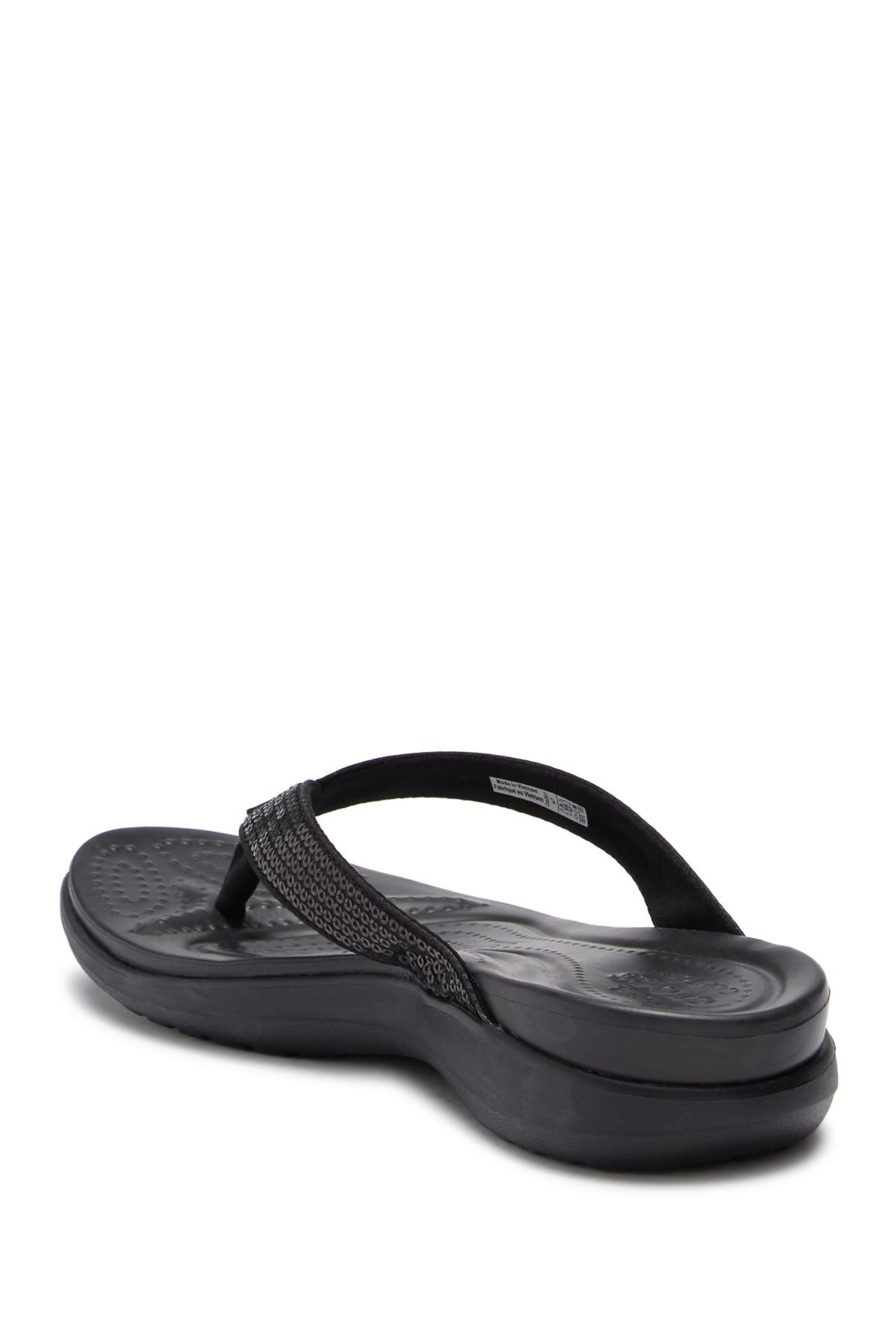 3a609a52f85 Crocs™ - Multicolor Capri V Sequin Flip Flop - Lyst. View fullscreen