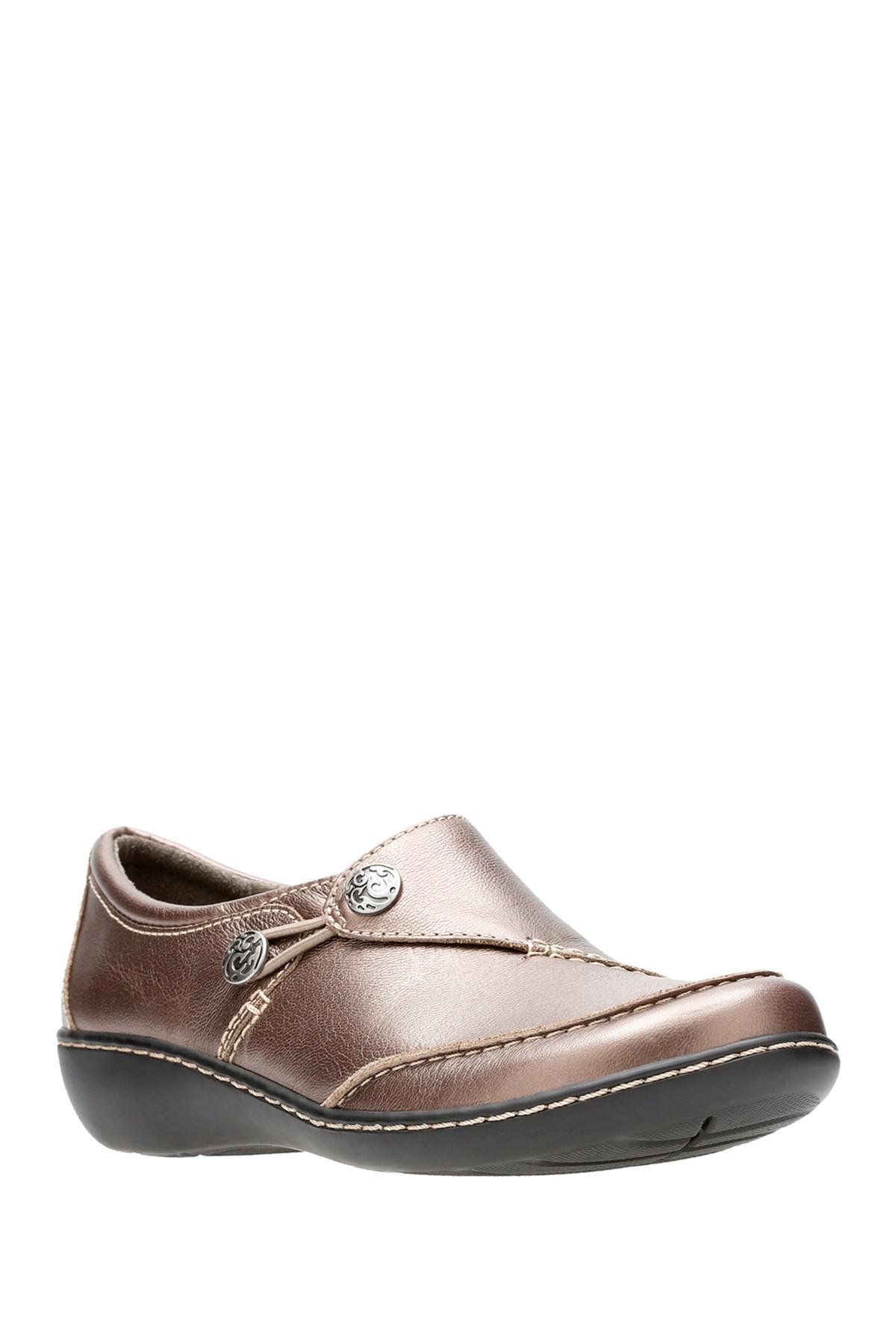 9b0e16a5fee Clarks. Women s Ashland Lane Q Leather Slip-on Loafer - Multiple Widths  Available
