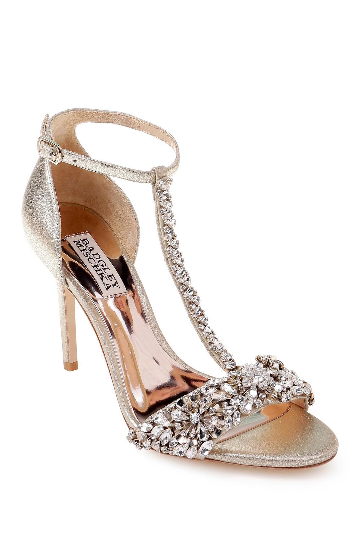 ae9a07a160d Badgley Mischka - Multicolor Crystal Embellished Sandal (women) - Lyst.  View fullscreen