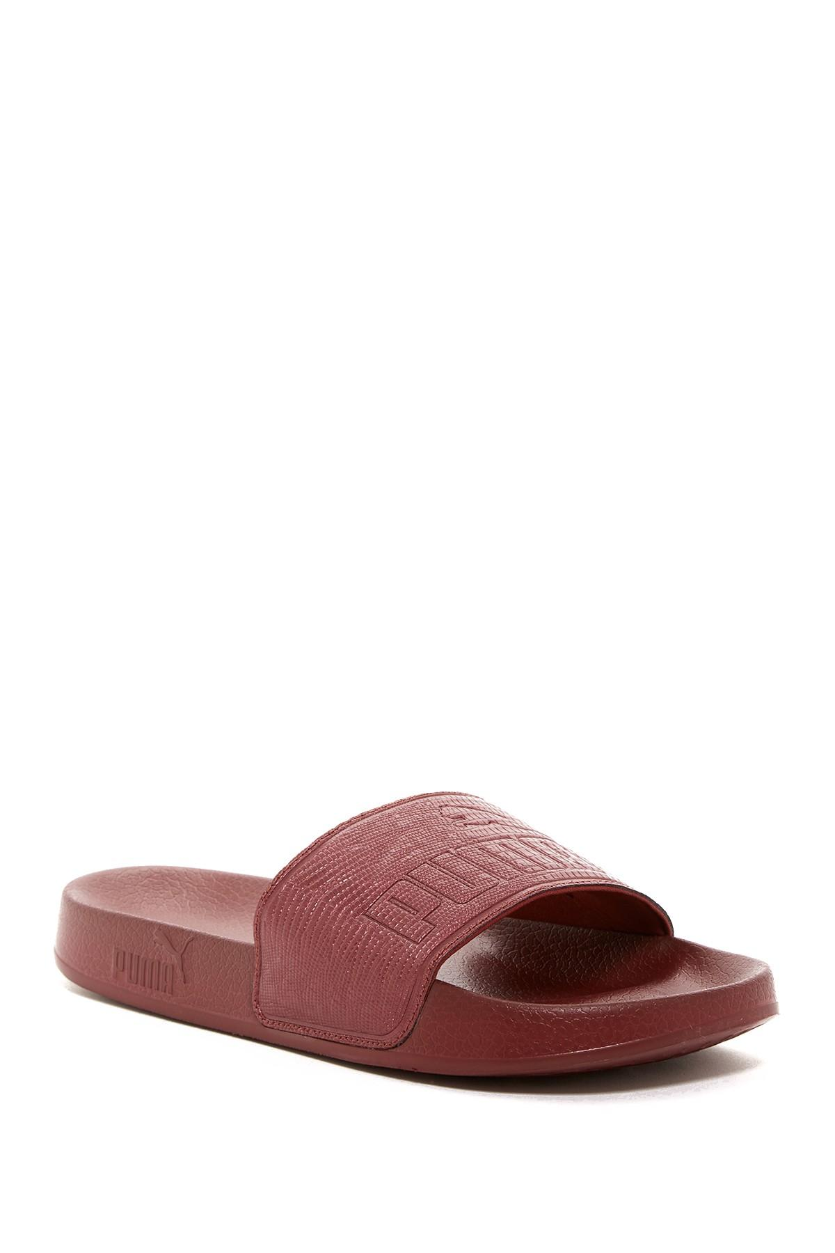 574fbbdf1be9a2 Lyst - PUMA Leadcat Embossed Slide Sandal in Red