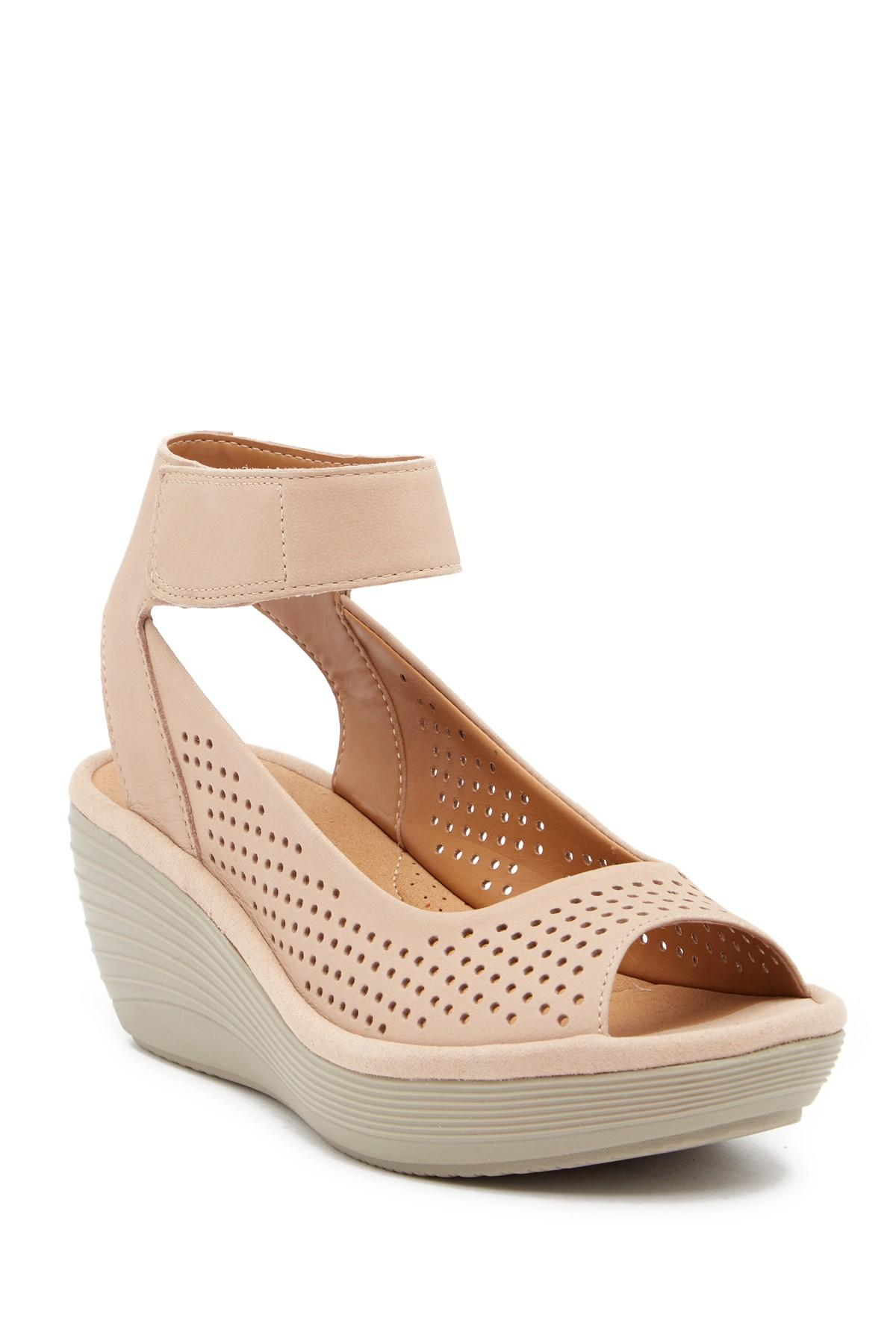 7ce21b0c68ef Lyst clarks reedly salene wedge sandals save jpg 1200x1800 Wide width wedge  sandals for women