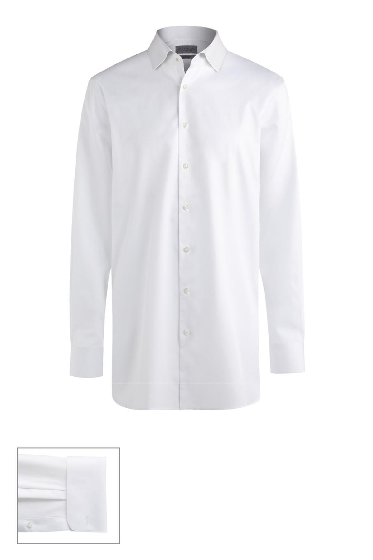 John w nordstrom r made to measure extra trim fit short for Extra trim fit dress shirt