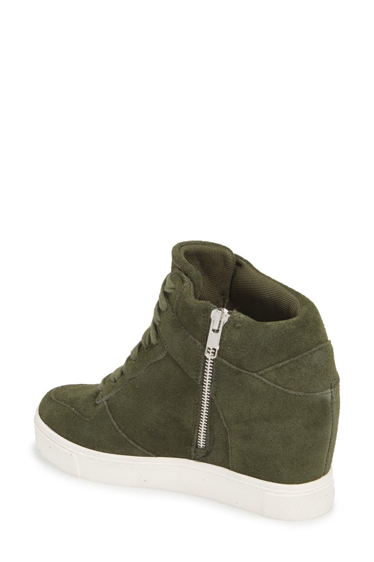 52784e3ff9a Lyst - Steve Madden Noah Hidden Wedge Sneaker (women) in Green