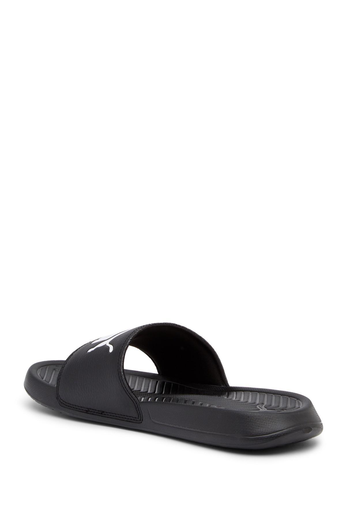 816ed4c508c Lyst - PUMA Popcat Sliders In Black 36026510 in Black for Men - Save 59%