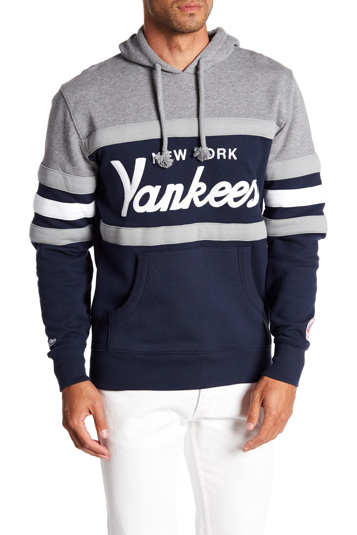 795f2080c Mitchell   Ness Mlb New York Yankees Head Coach Hoodie in Blue for ...
