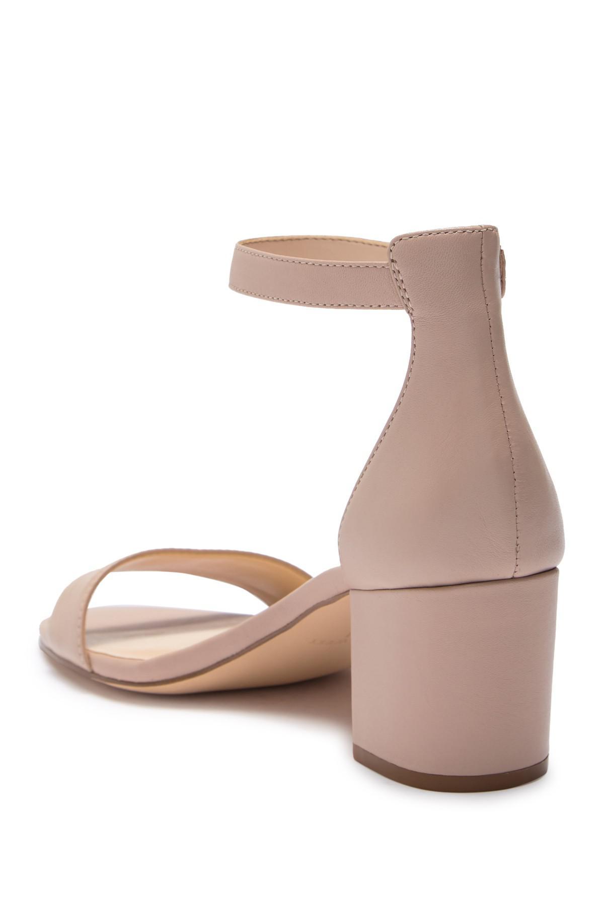 9a4edd997a3 Nine West - Natural Fields Ankle Strap Block Heel Sandal - Lyst. View  fullscreen