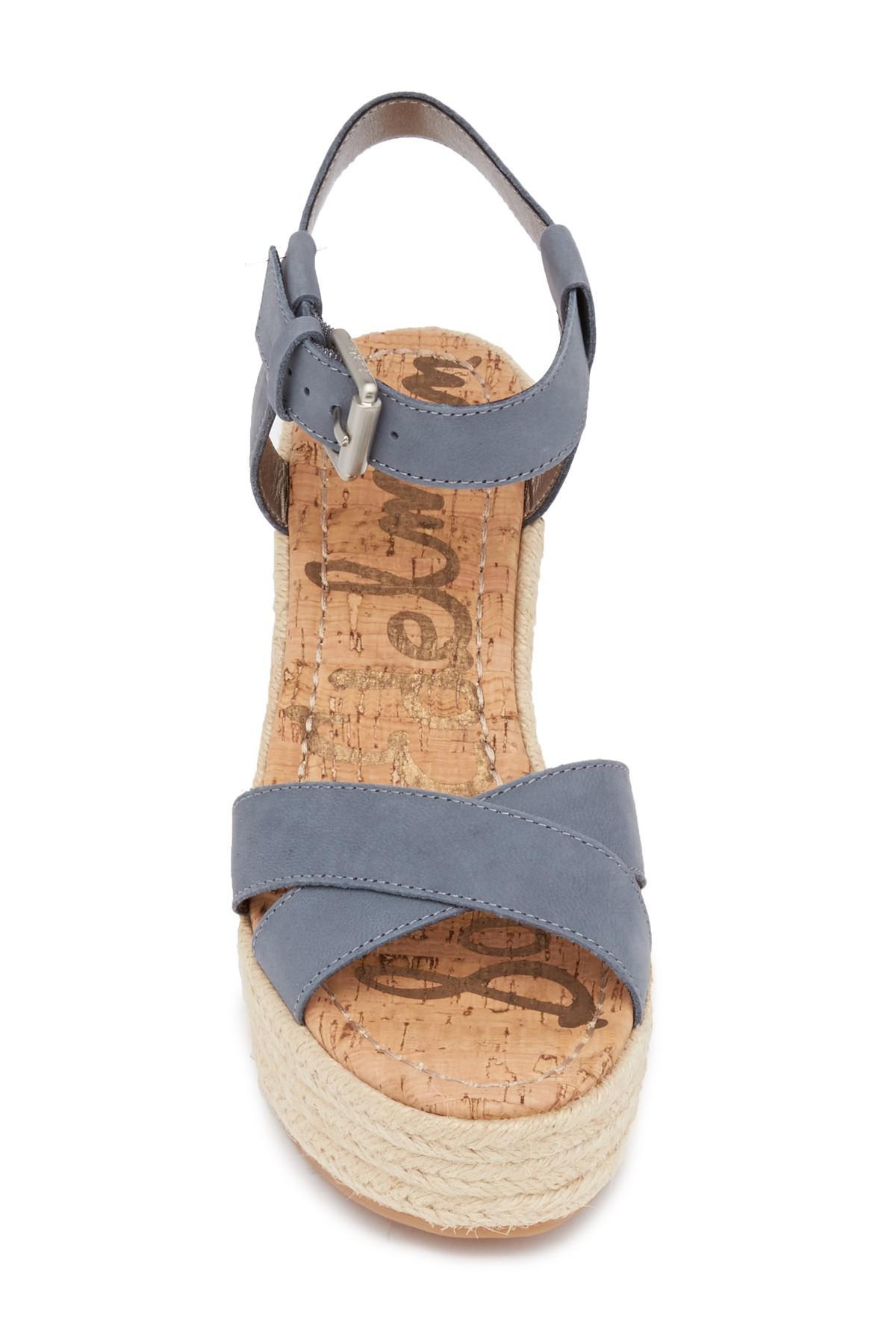 cd523c008fcda Lyst - Sam Edelman Destin Espadrille Wedge Sandal in Blue