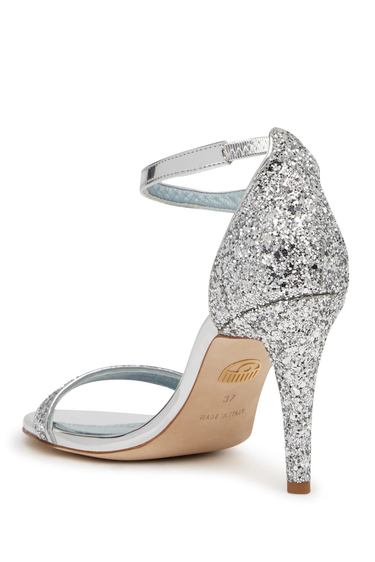 Chiara Ferragni Glitter Strappy High Heel Sandal q2DXO555