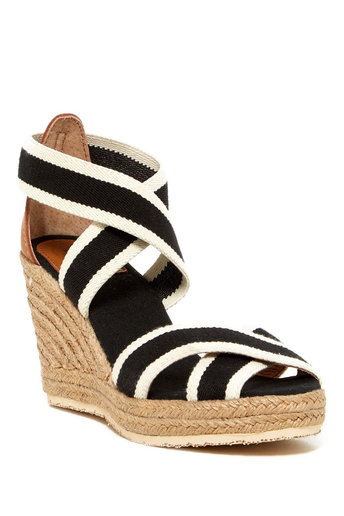 16db285bd8a Lyst - Joy & Mario Lola Espadrille Wedge Sandal in Black