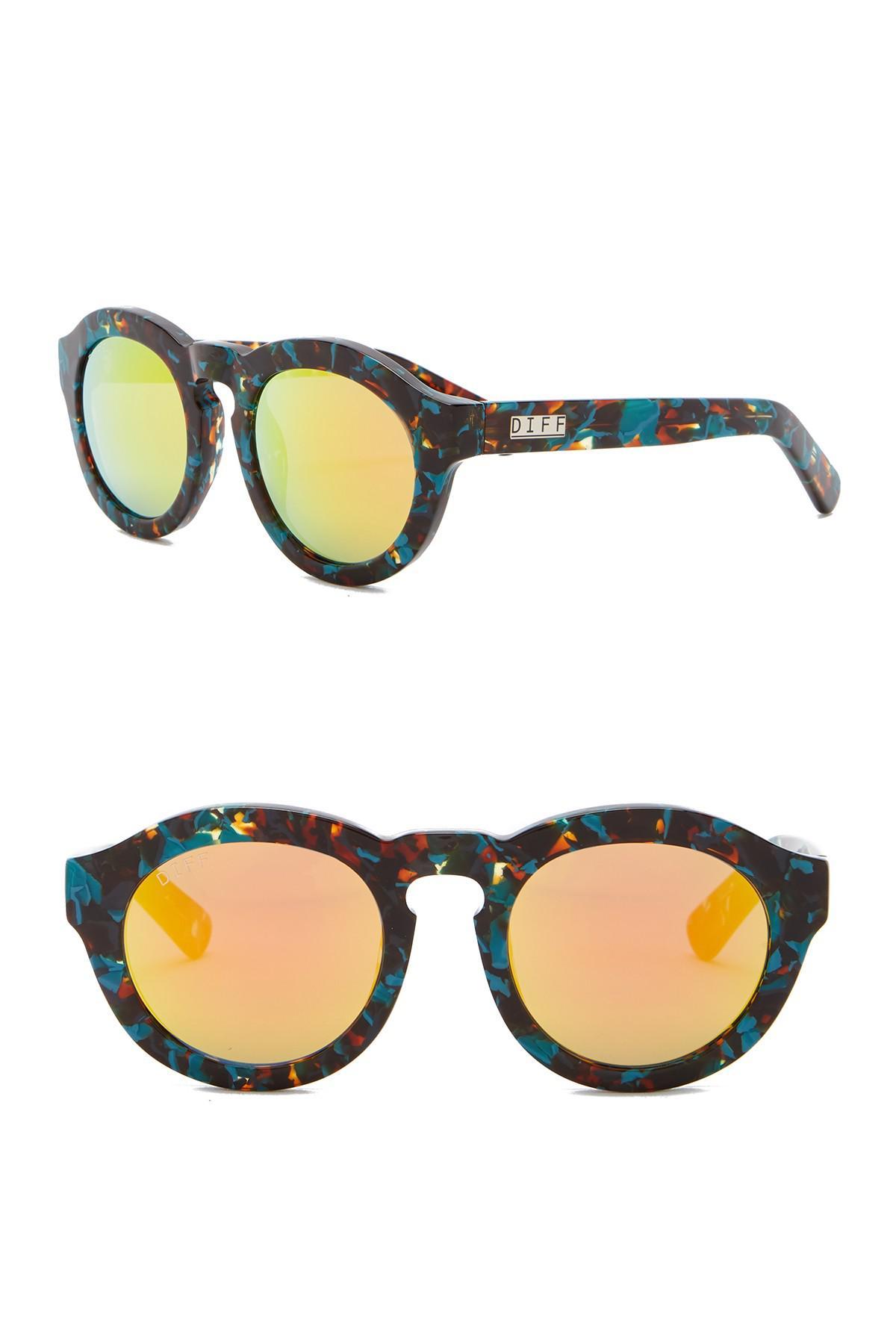 99ac99f24c5 Lyst - DIFF Dime Round Keyhole Bridge 48mm Acetate Sunglasses