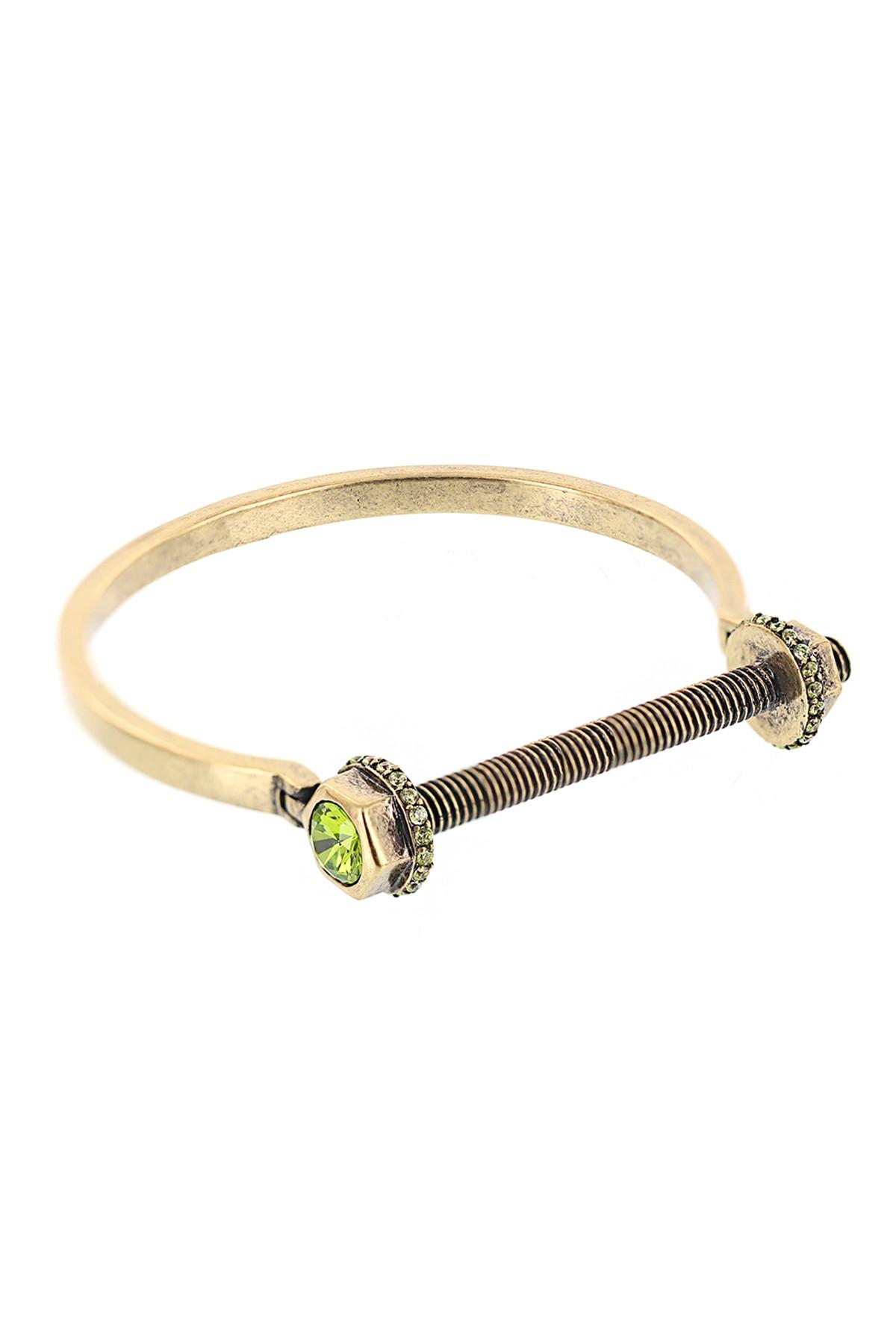 Lyst Nicole Miller Nuts Amp Bolts Bar Clasp Bracelet In