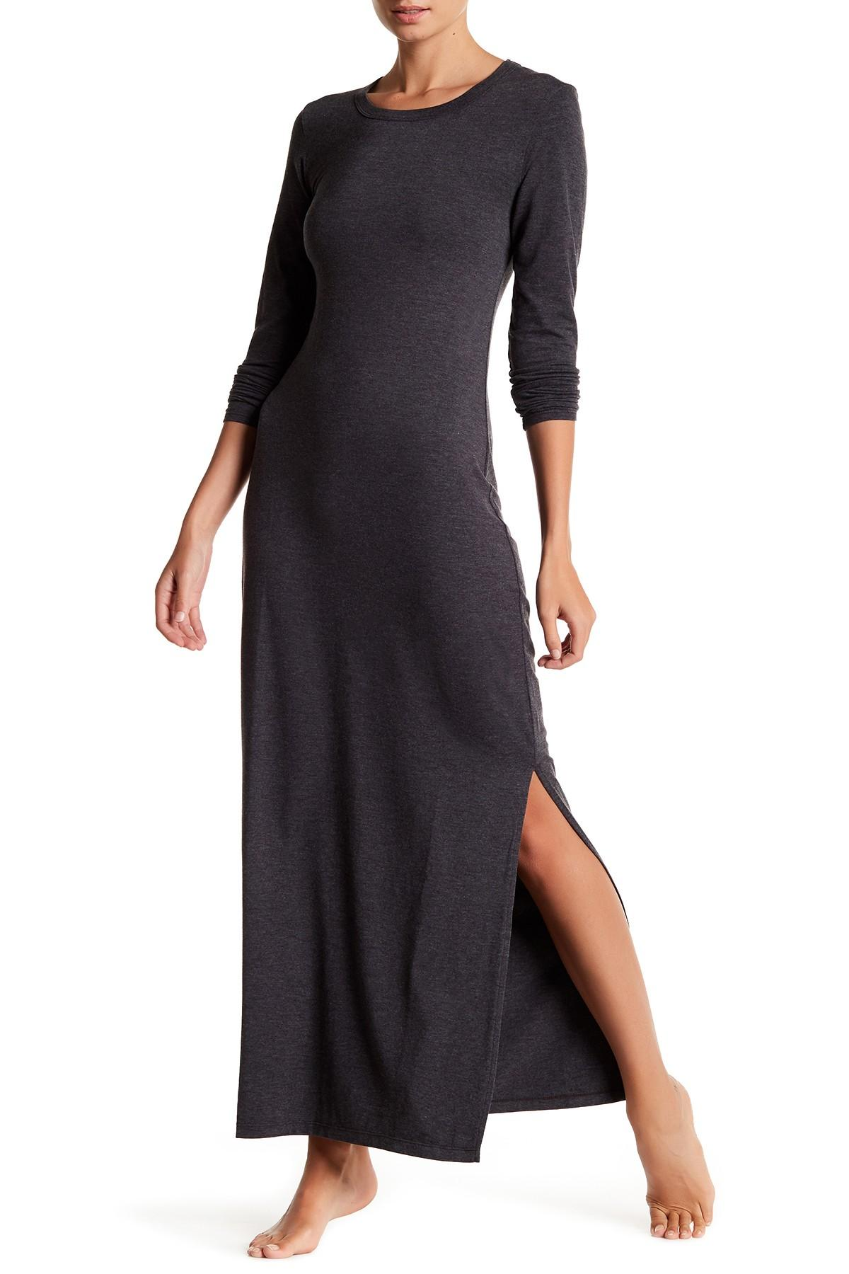 Lyst Barefoot Dreams Long Sleeve Knit Dress In Black