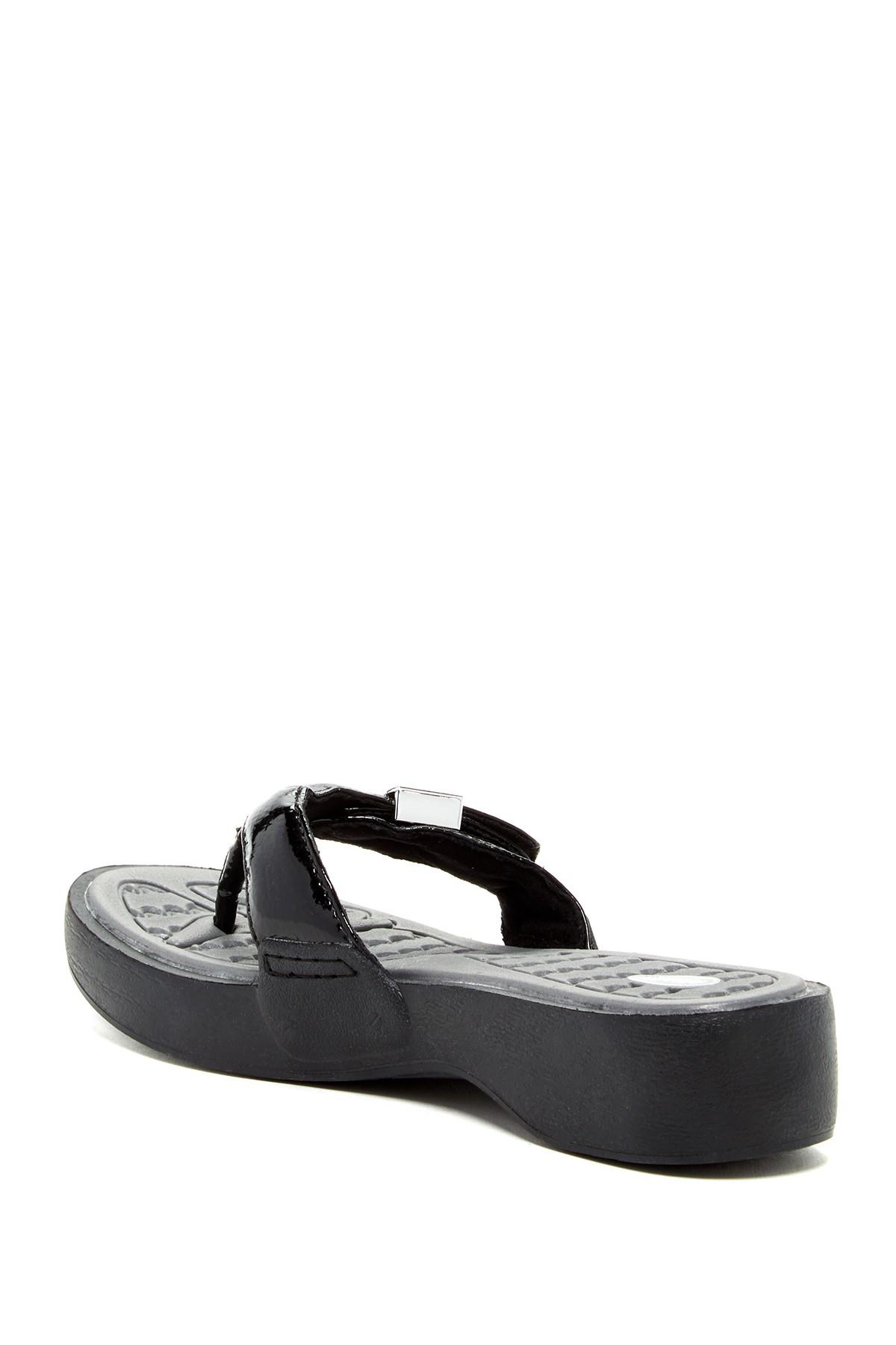 Lyst Dr Scholls Roll Sandal In Black