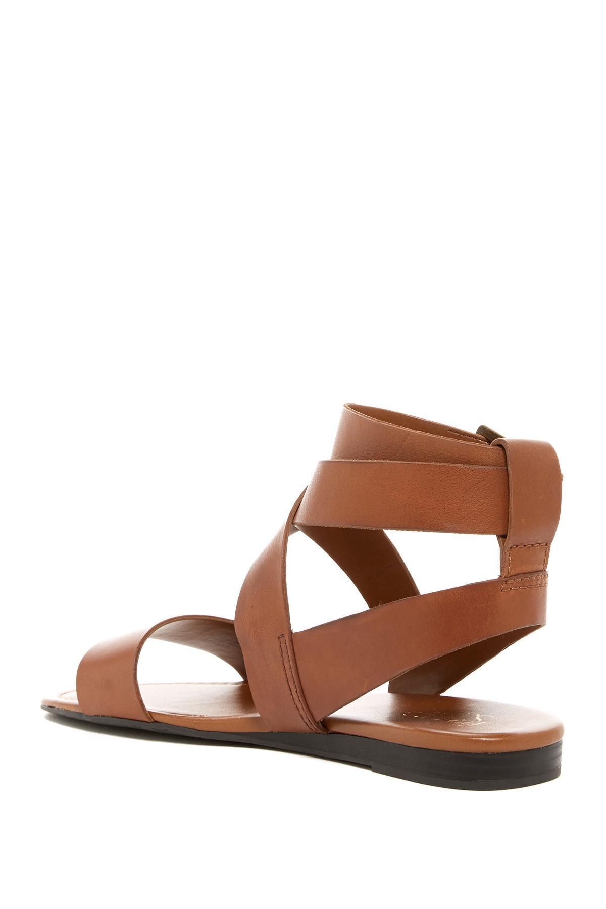 Lyst Franco Sarto Giovanna Strappy Sandal In Brown