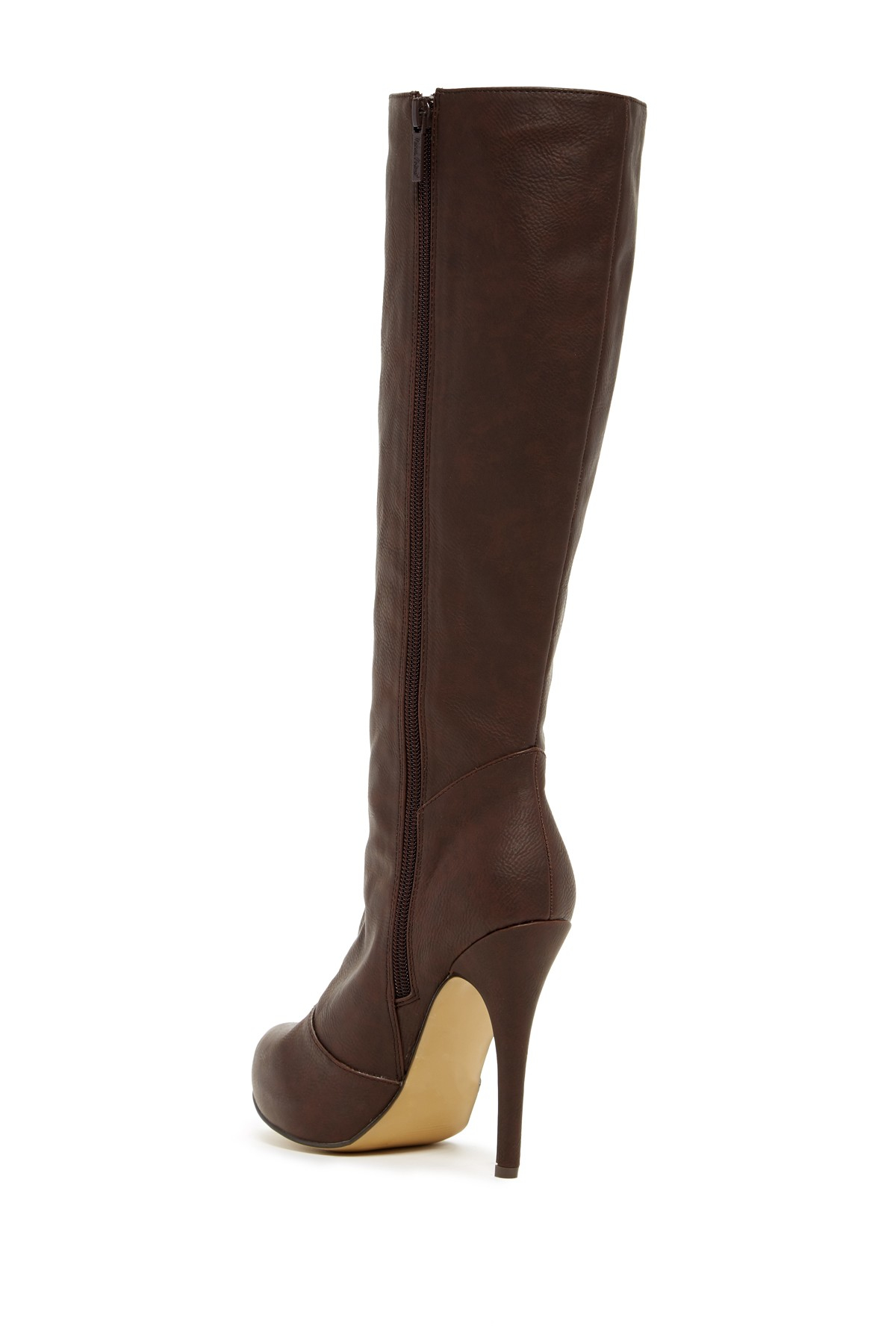 michael antonio bickie knee high boot in brown chocolate