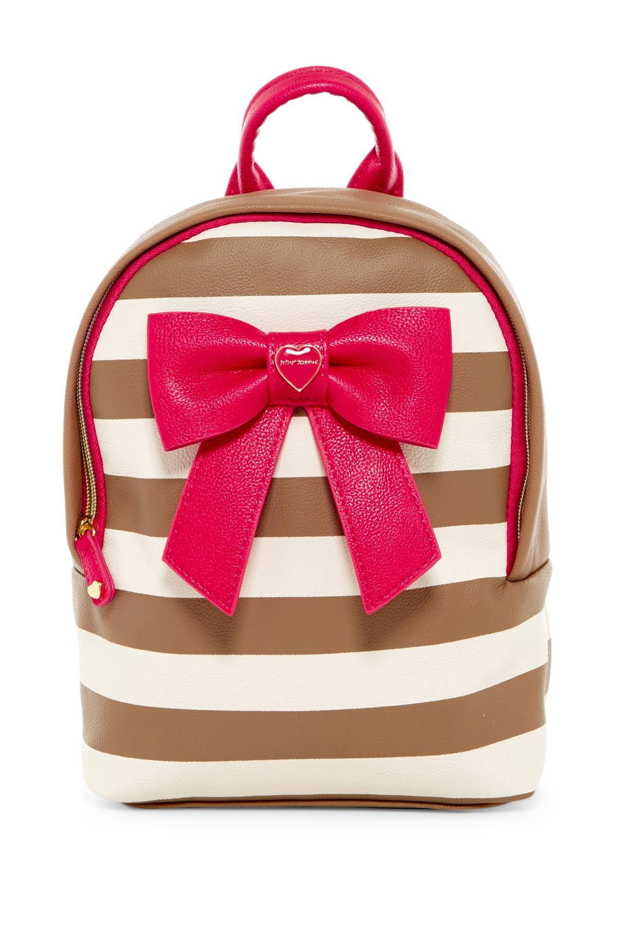 Betsey Johnson Mini Bownanza Faux Leather Backpack Lyst