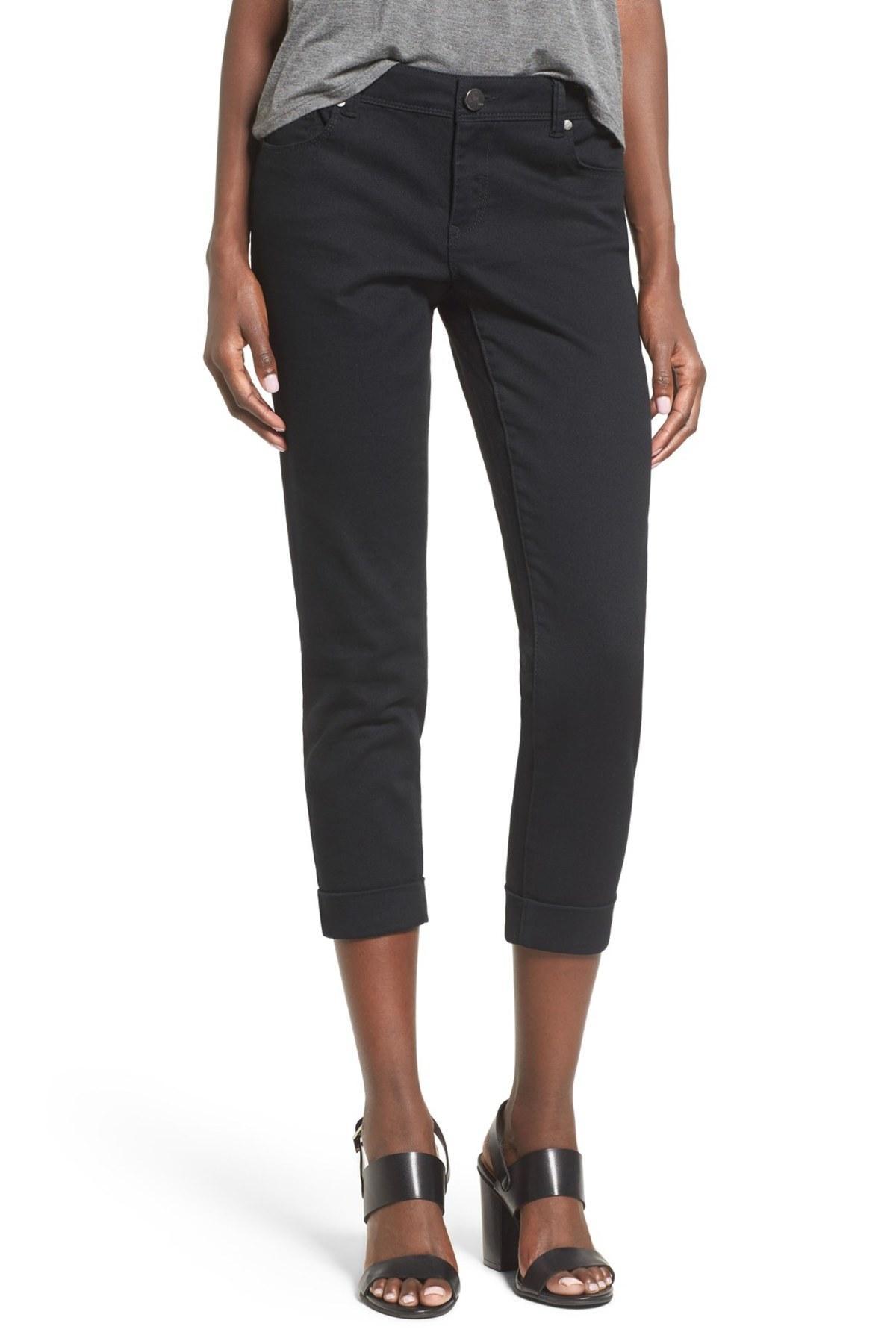 1822 denim Crop Skinny Jean in Black | Lyst - photo#44