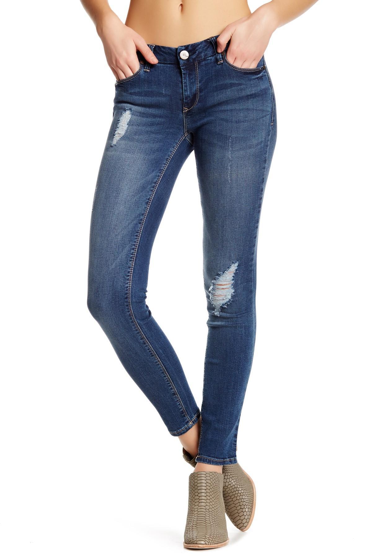 1822 denim Classic Skinny Jean in Blue | Lyst - photo#39