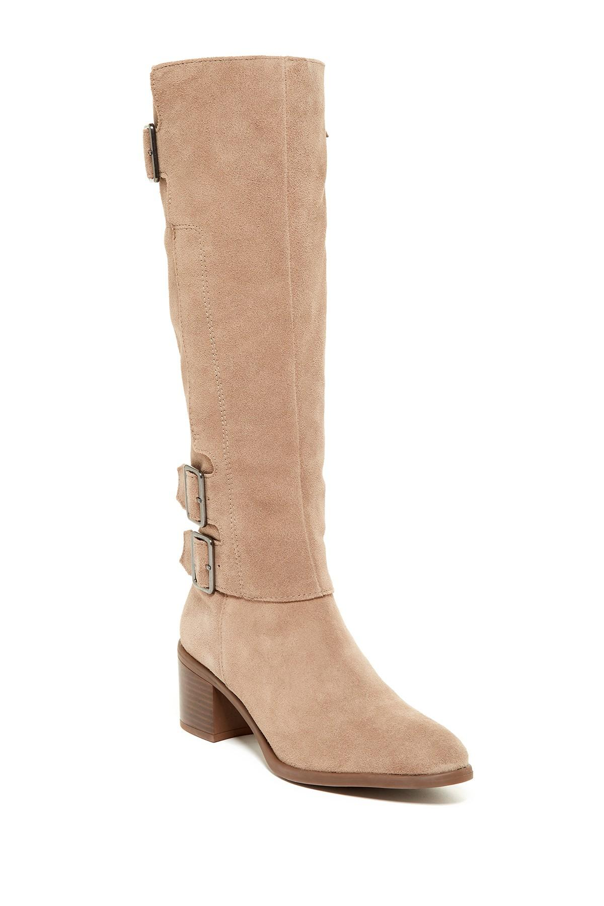 4be0afbecc8 Lyst - Franco Sarto Elate Tall Boot in Natural