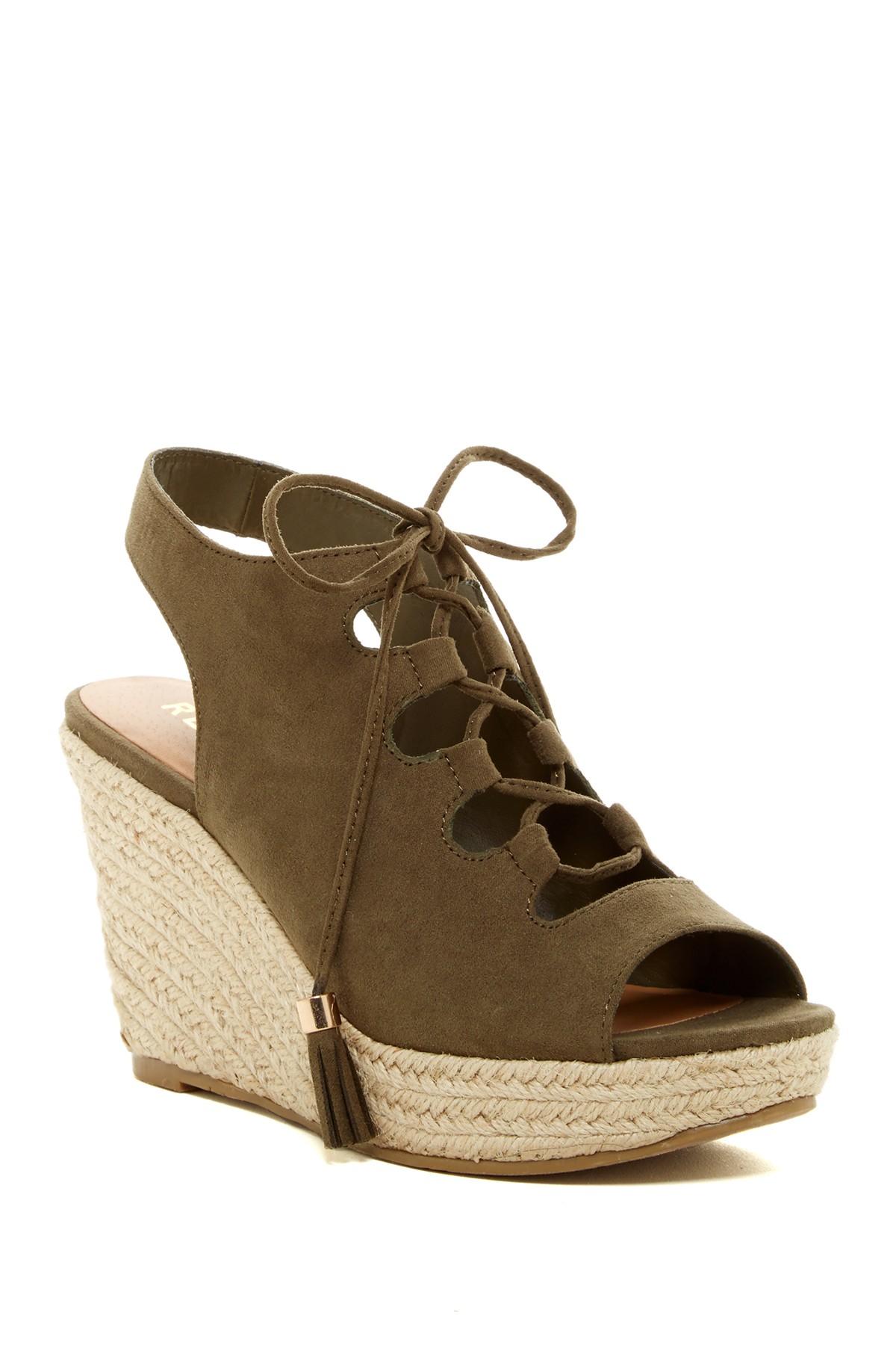 Lyst Report Daryll Lace Platform Wedge Sandal