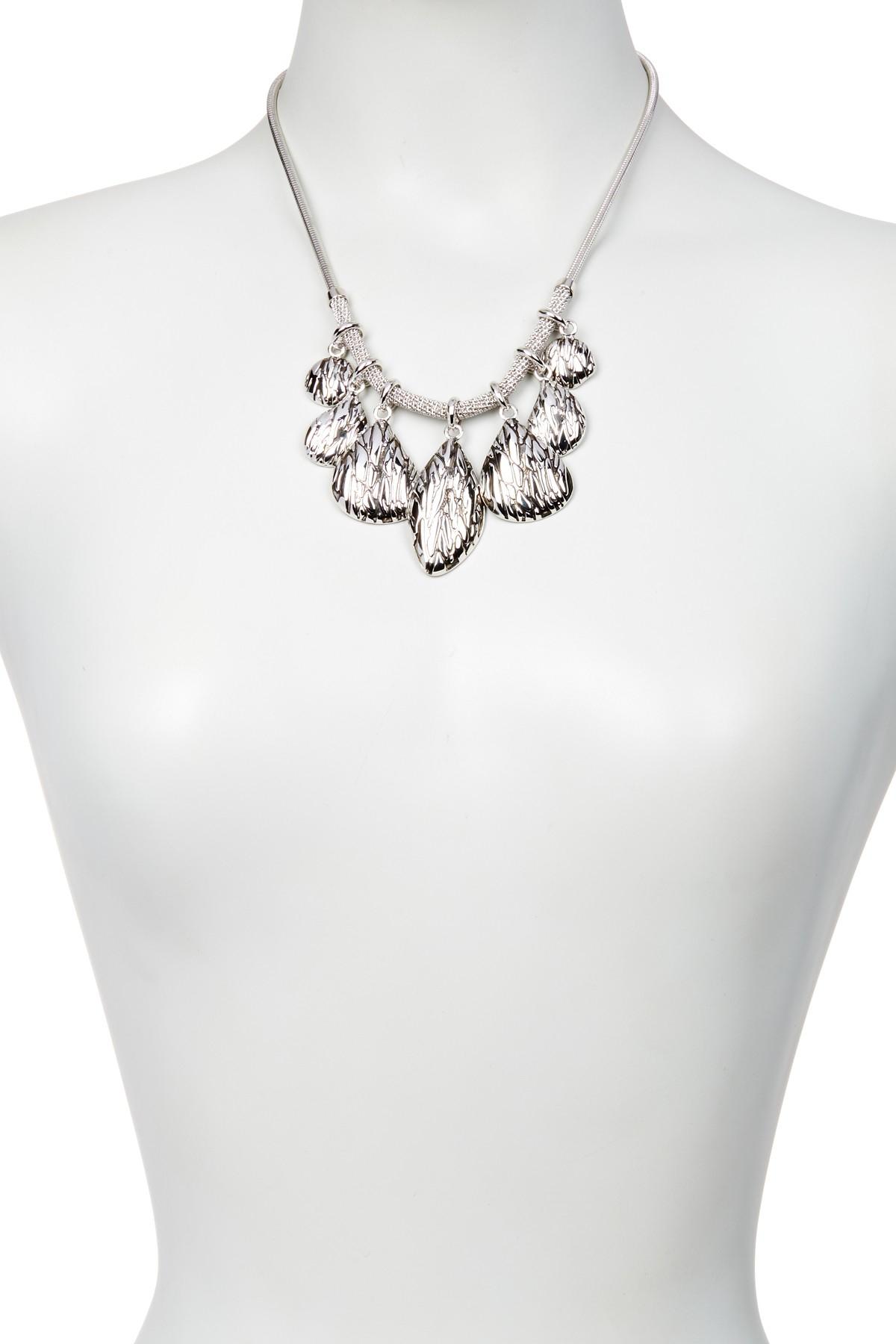 Lyst Diane Von Furstenberg Teardrop Frontal Necklace