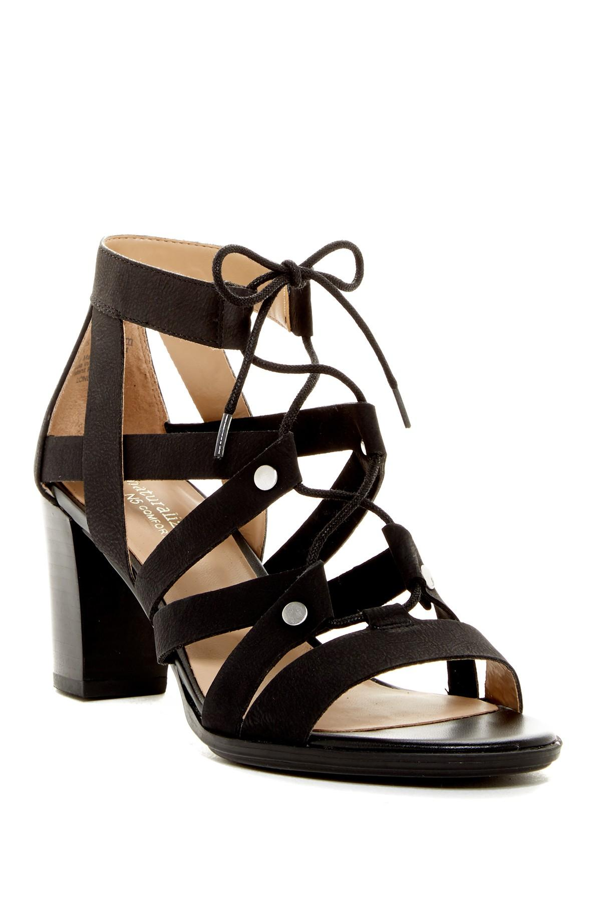 Lyst Naturalizer London Lace Up Heeled Sandal Wide