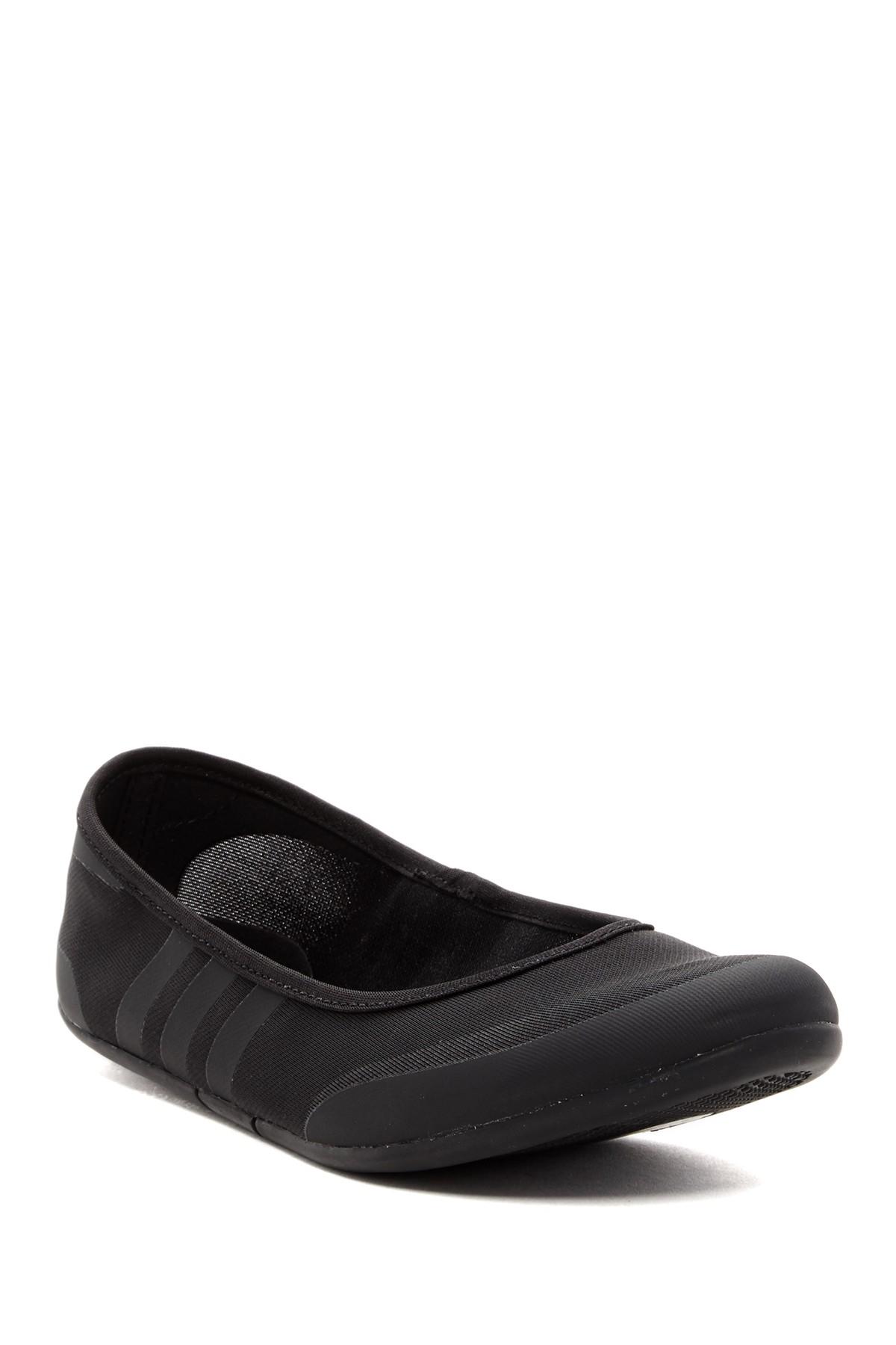 Lyst - Adidas Originals Sulina Athletic Ballet Flat In Black