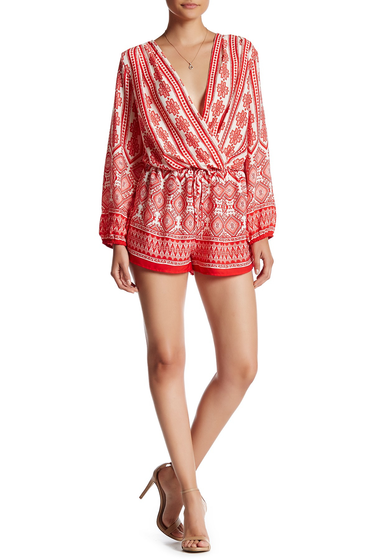 47aa261fa94d Lyst - Fraiche By J Kith Printed Romper in Red