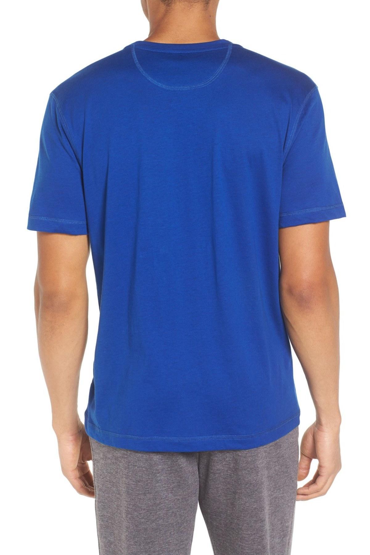 Lyst daniel buchler peruvian pima cotton t shirt in blue for Peruvian cotton t shirts