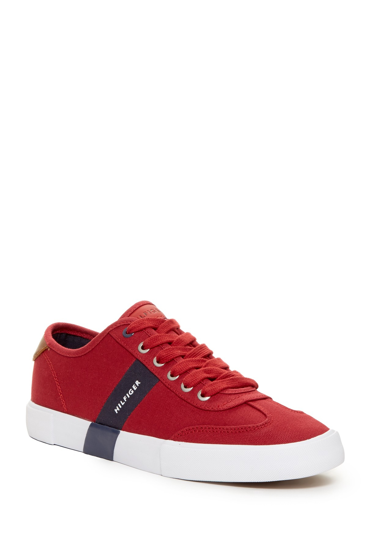 lyst tommy hilfiger pandora sneaker in red for men. Black Bedroom Furniture Sets. Home Design Ideas