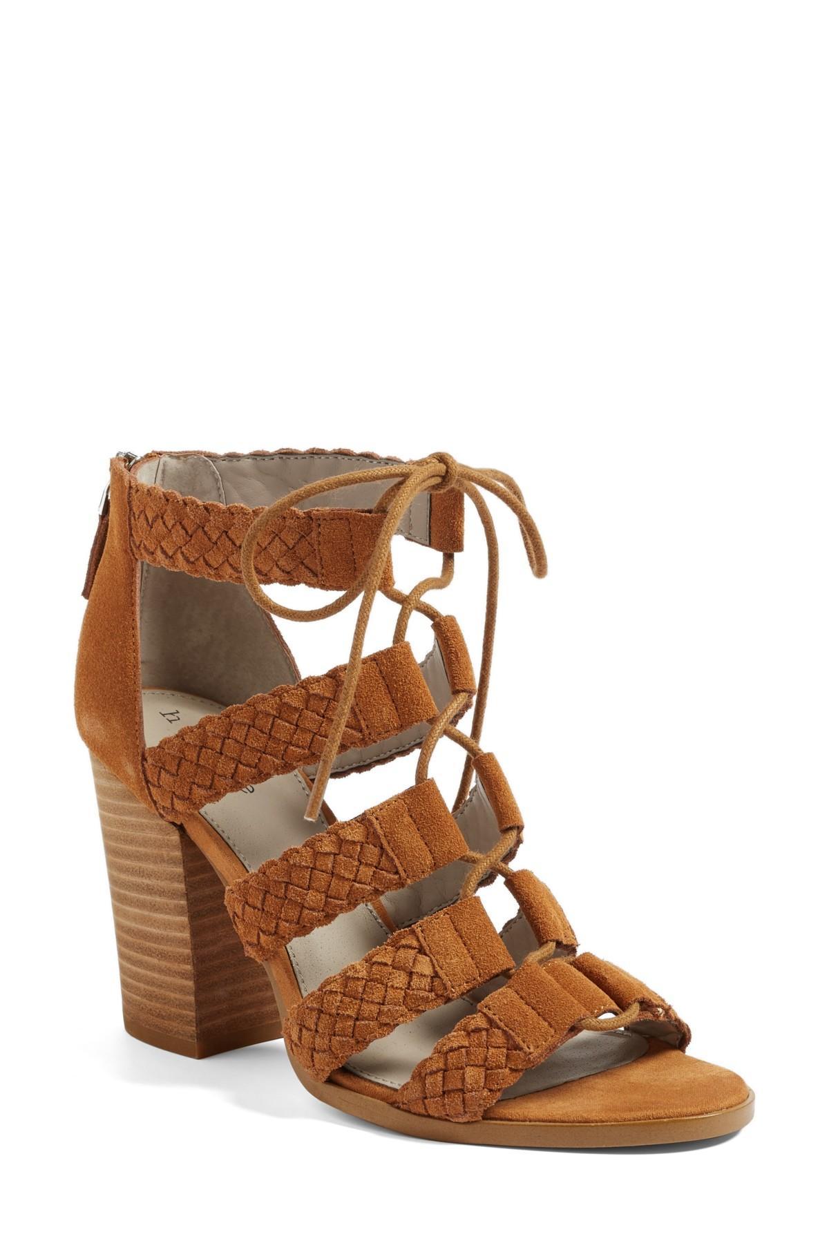 Hinge Desi Block Heel Sandal In Brown Lyst