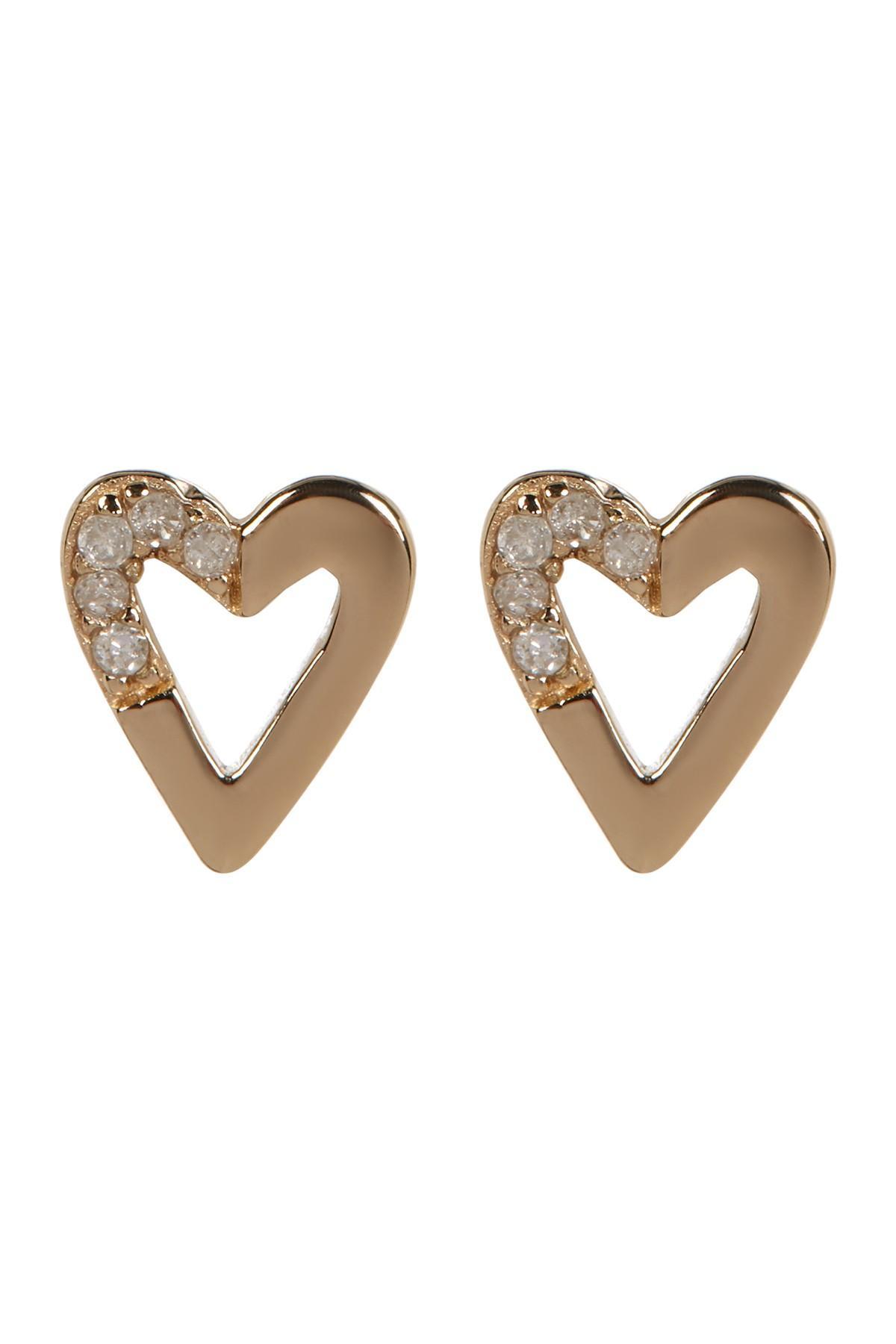 Flat Back Diamond Stud Earrings