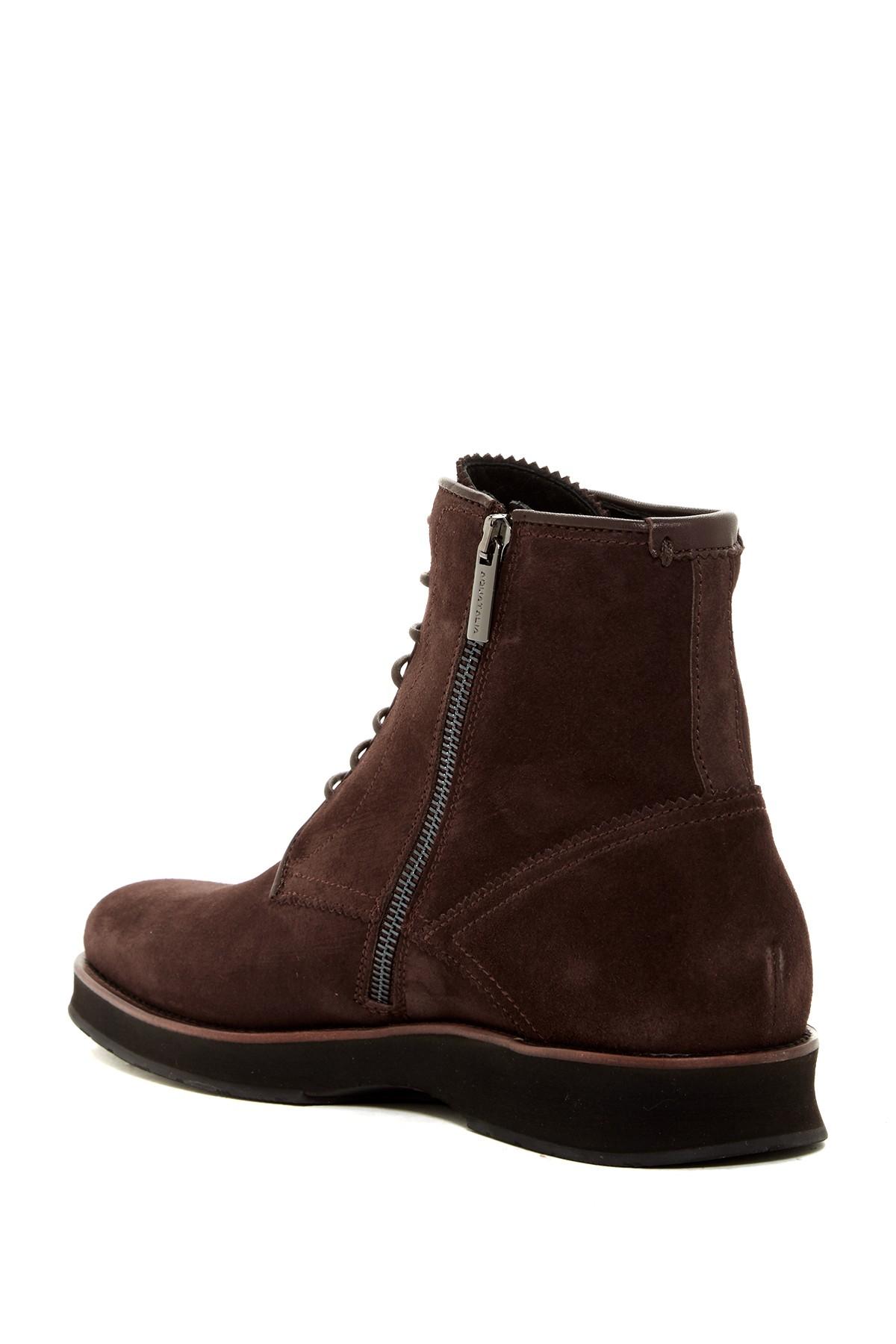 Aquatalia Gale Mid Rise Weatherproof Boot in Brown for Men ...