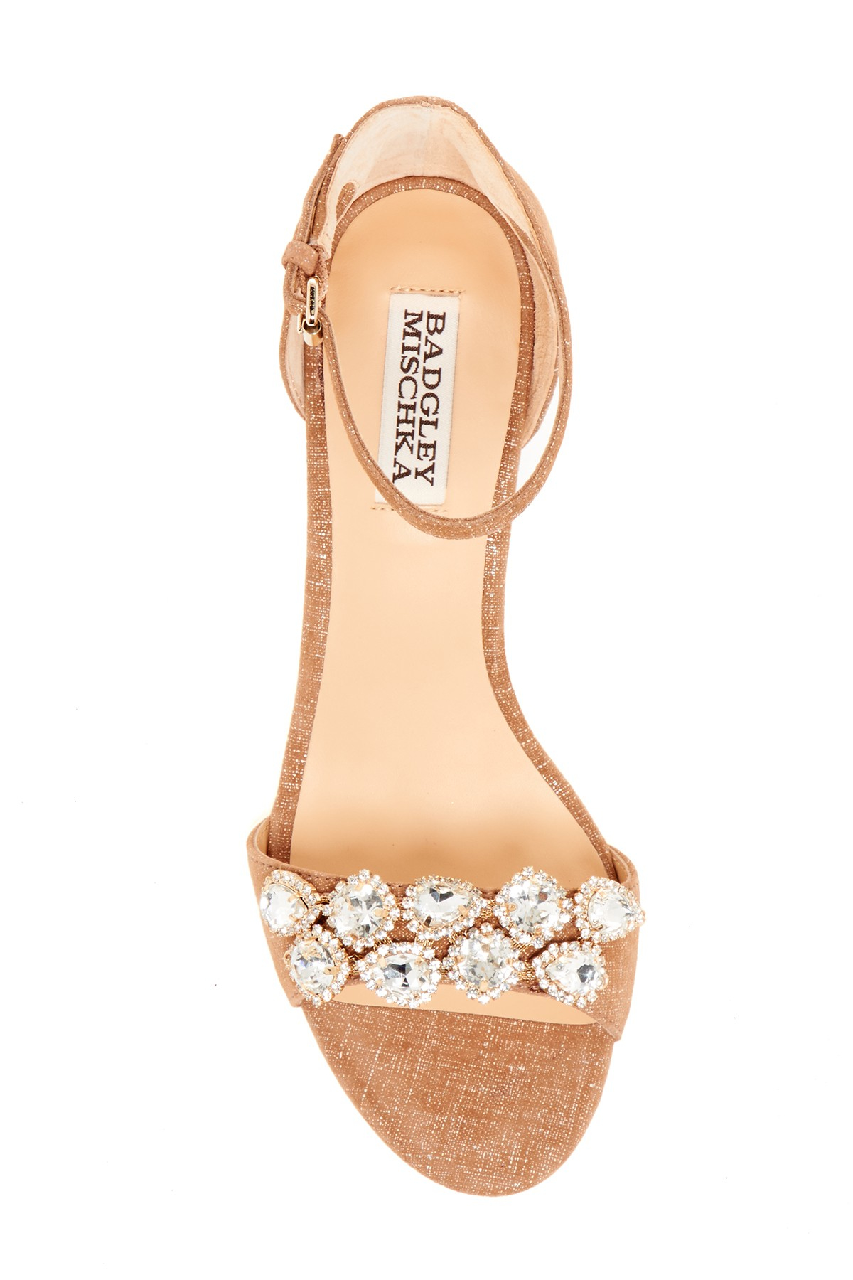 Lyst Badgley Mischka Clear Crystal Embellished Wedge Sandal