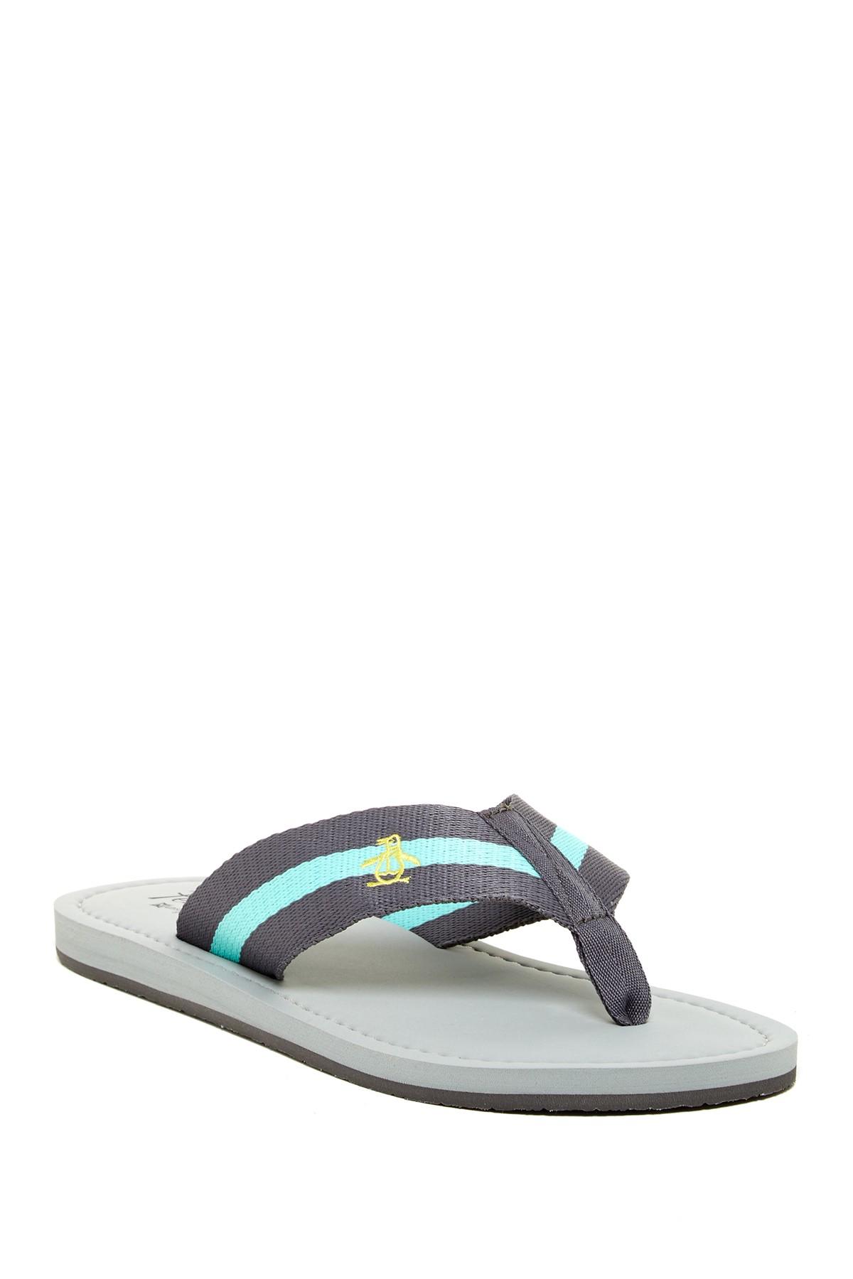 lyst original penguin poolside flip flop in blue for men. Black Bedroom Furniture Sets. Home Design Ideas