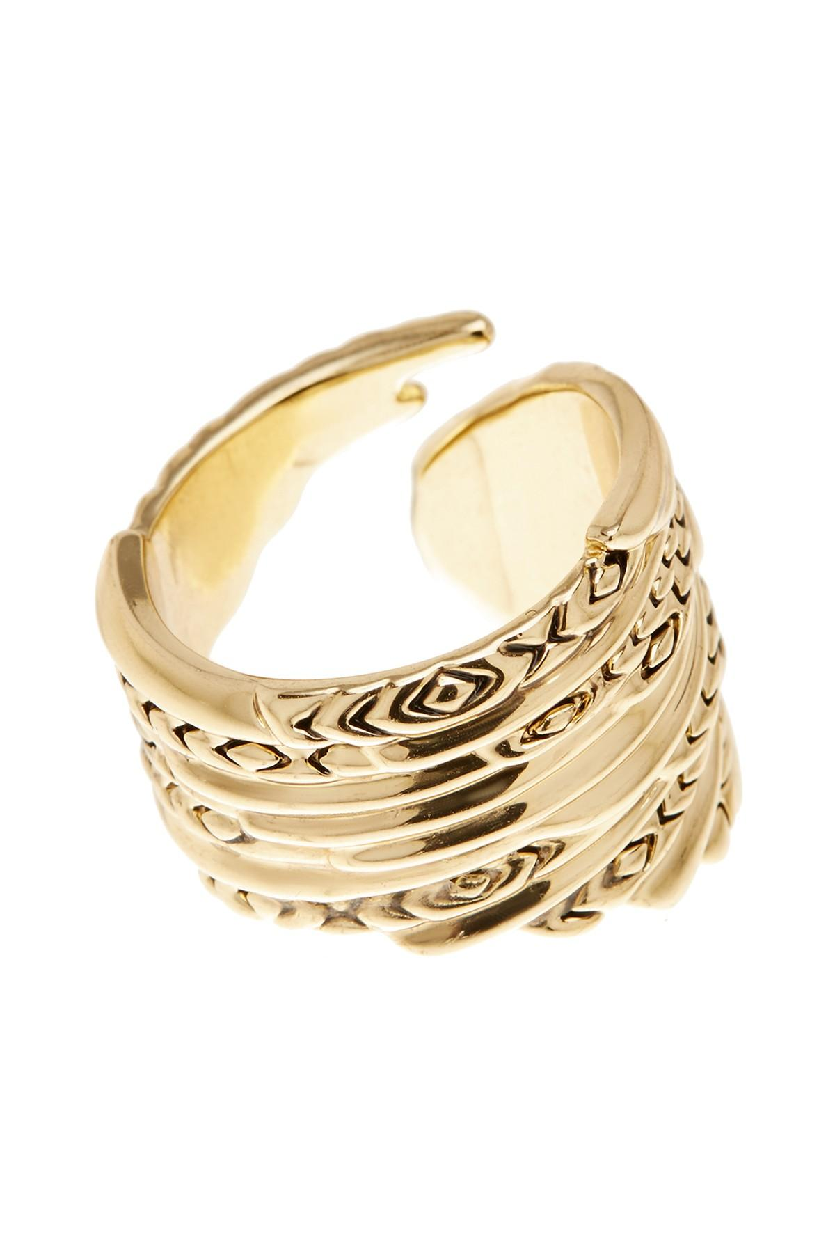 Lyst House Of Harlow 1960 Angel Wing Wrapped Ring Size