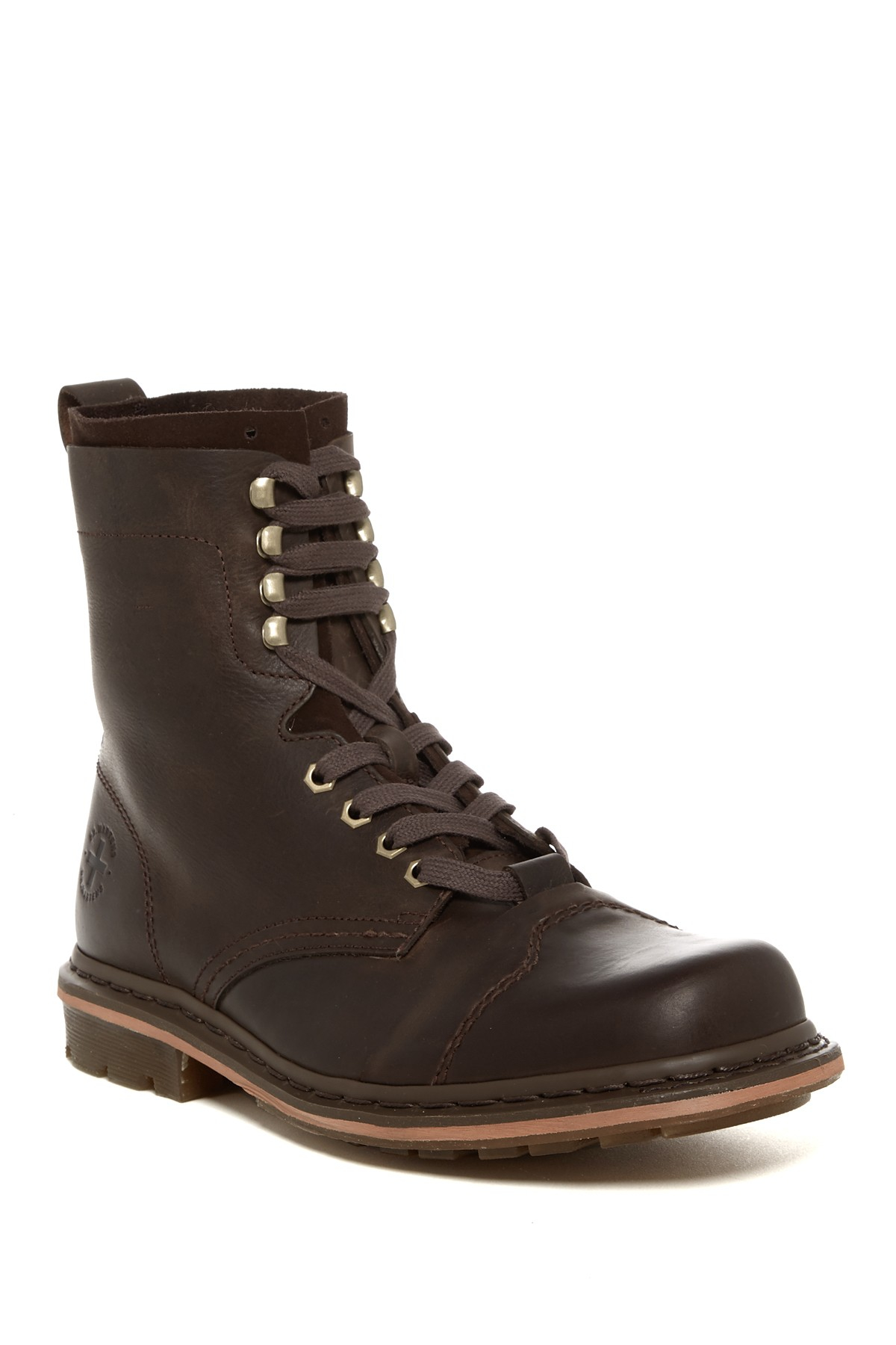 for sale dr martens pier cap toe combat boots unisex dark brown leather new