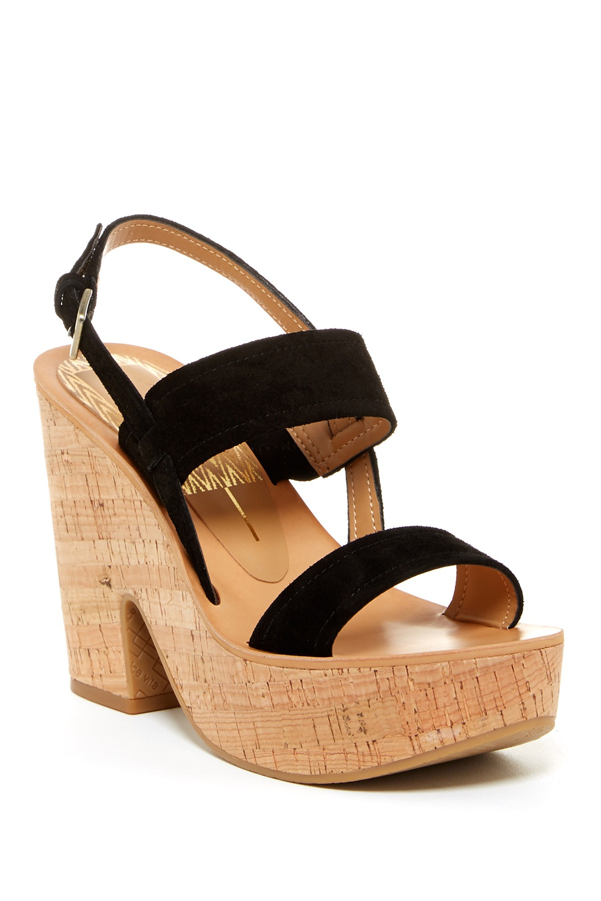 dolce vita platform sandal in black lyst