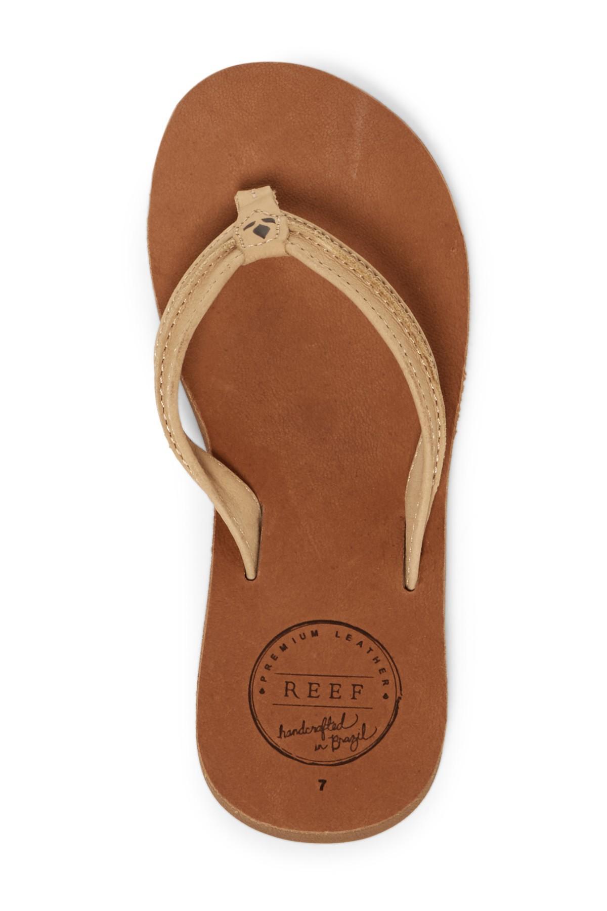 045145e0d5da Lyst - Reef Swing 2 Leather Flip Flop (women) in Brown