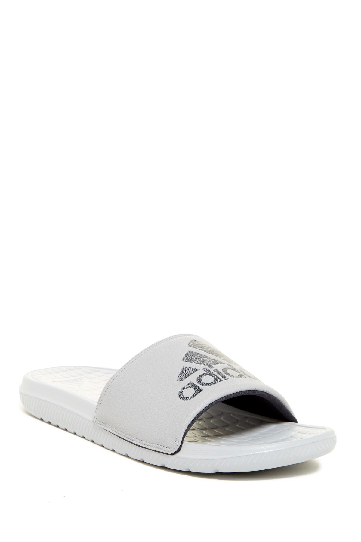 Adidas Originals Voloomix Slide Sandal In White For Men Lyst