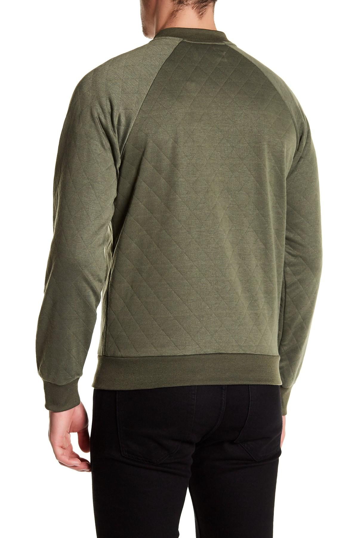 Sovereign Code Princeton Quilted Jacket In Green For Men