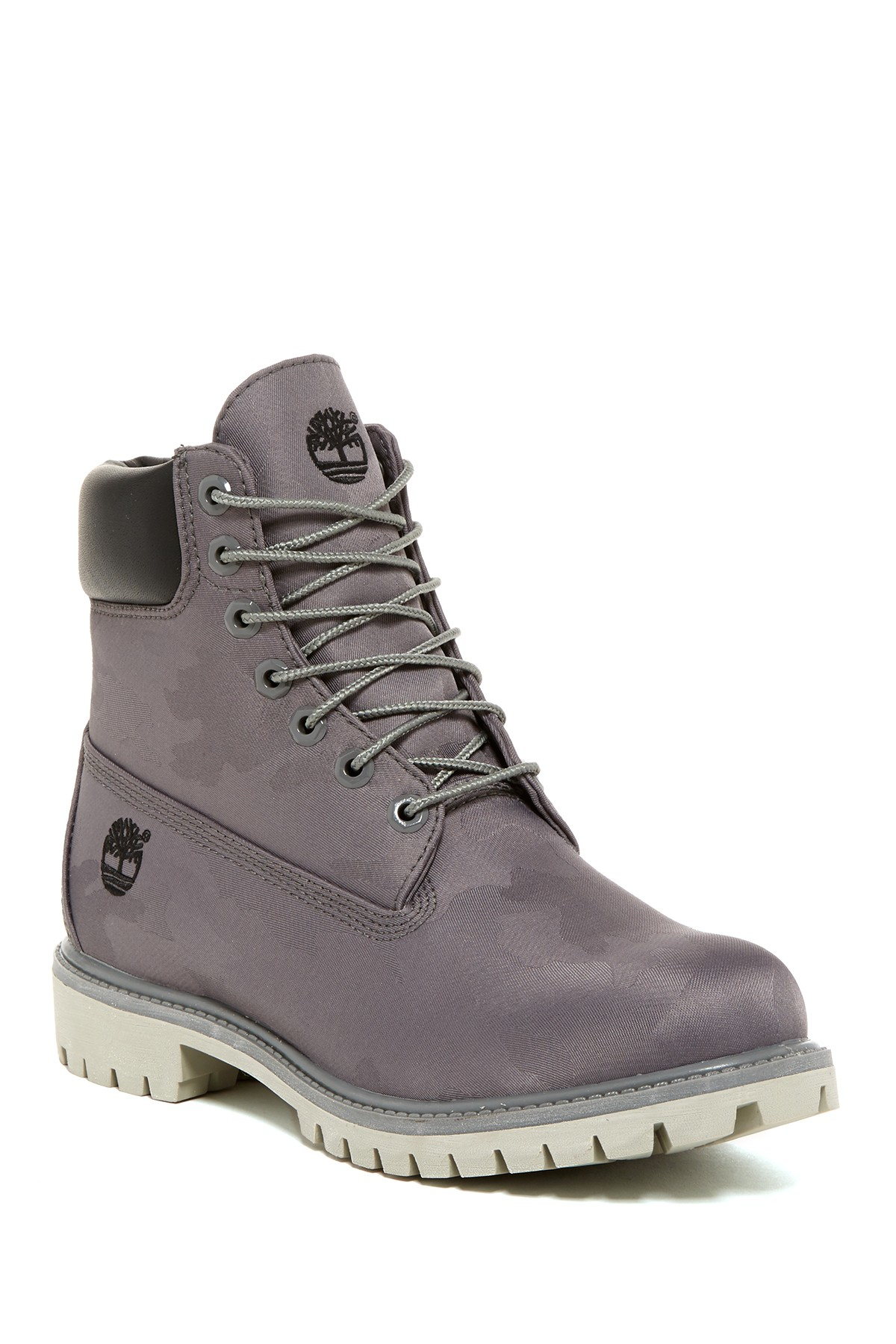 timberland 6 premium waterproof boot in gray lyst. Black Bedroom Furniture Sets. Home Design Ideas