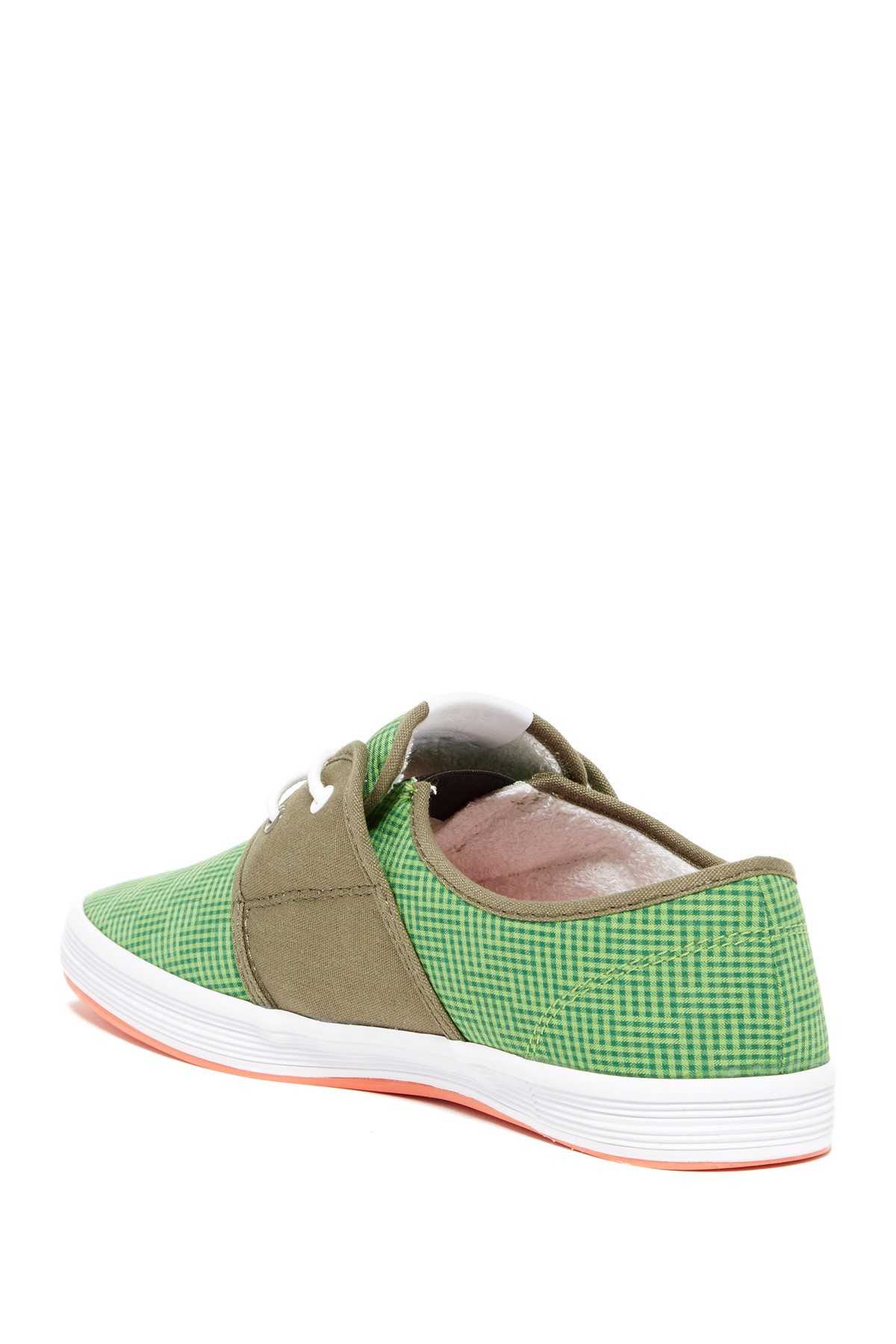 Lyst fish n chips spam 2 checkered sneaker in green for Fish and chips shoes