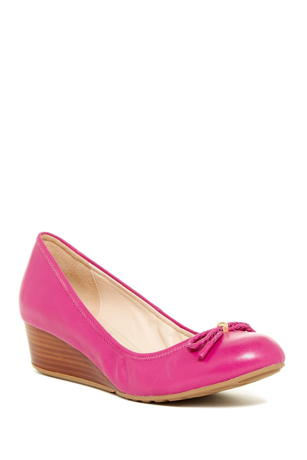 Lyst Cole Haan Tali Grand Lac Wedge Pump In Pink