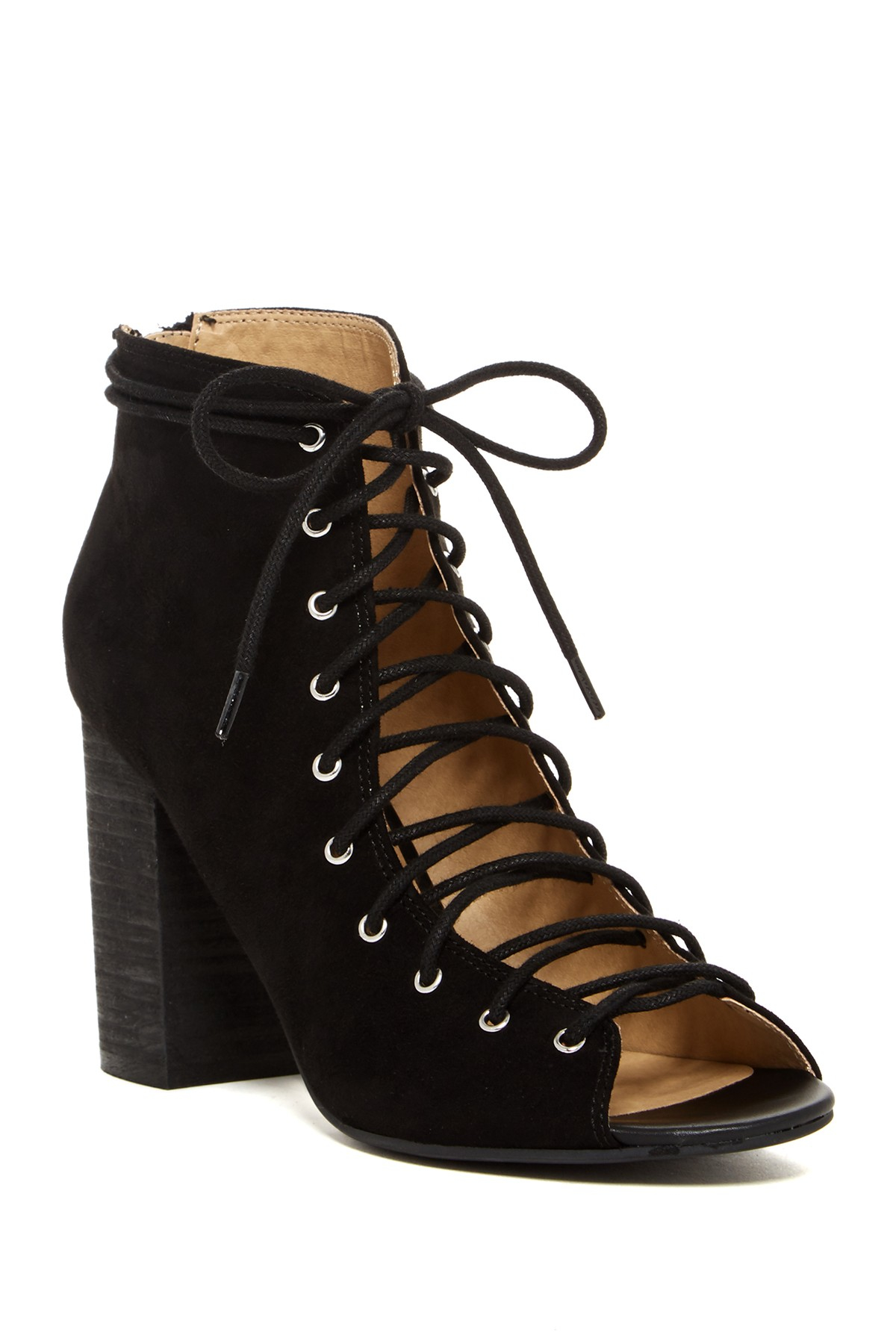 Lyst Chinese Laundry Biggest Lace Up Bootie In Black