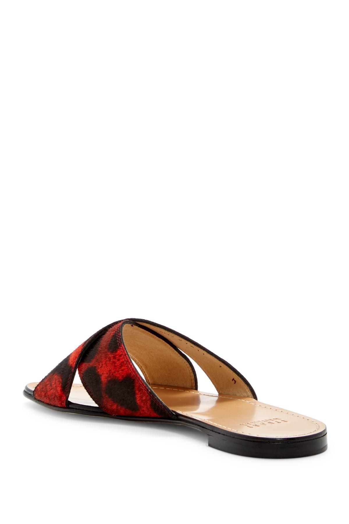 Lyst Stuart Weitzman Byway Slide Sandal In Red