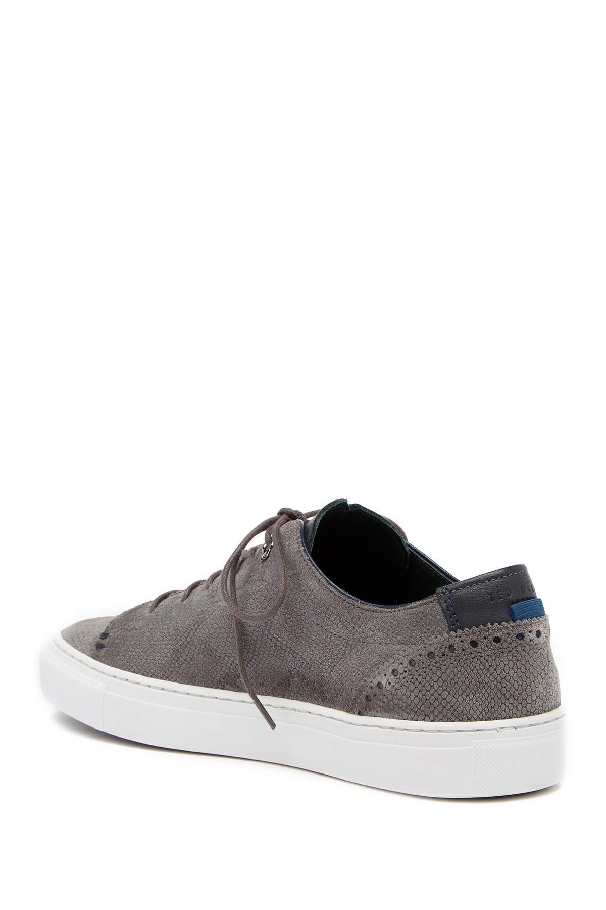 71512dd1e Ted Baker - Gray Duuke Suede Sneaker for Men - Lyst. View fullscreen