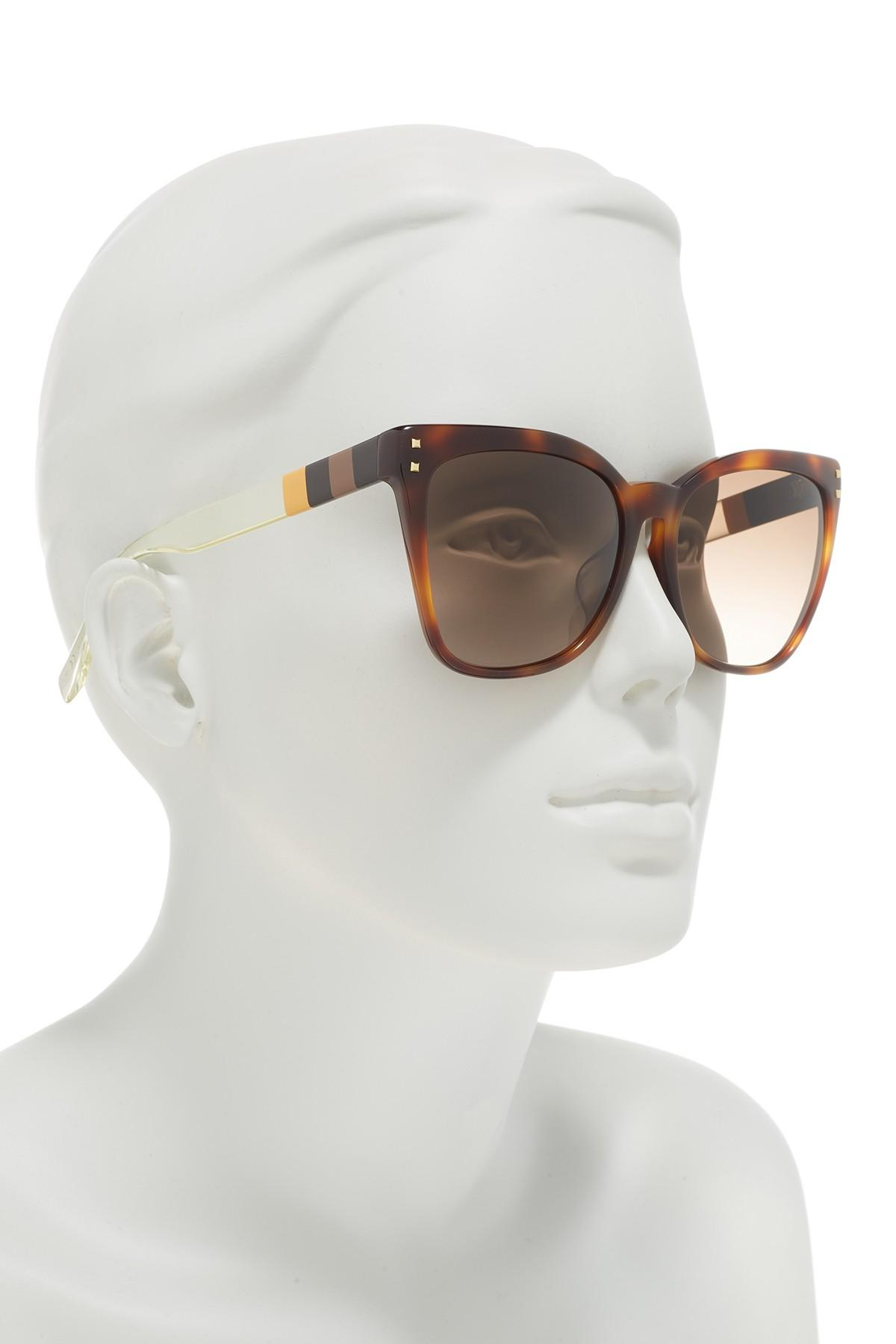 4e593e34451e Fendi - Multicolor 57mm Square Sunglasses - Lyst. View fullscreen