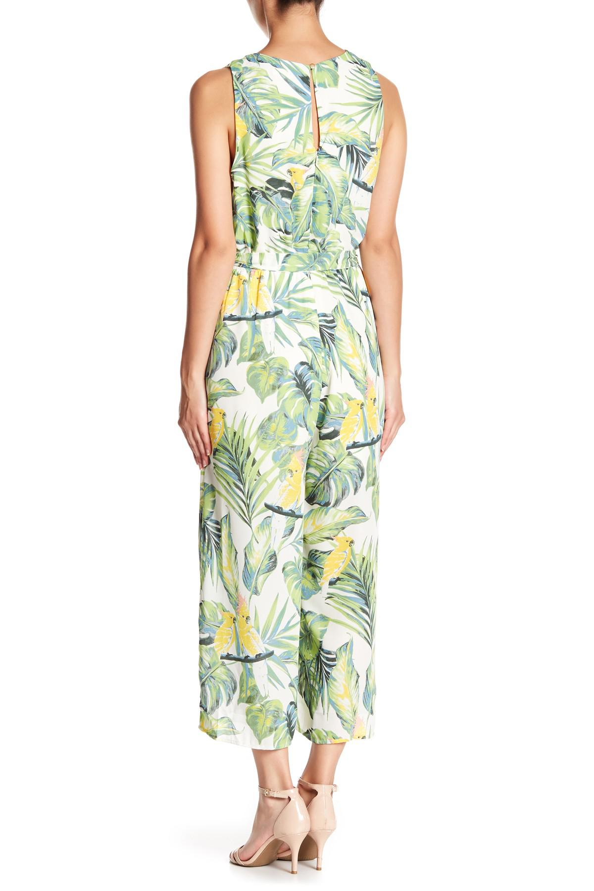 884f4548a22a Lyst - June   Hudson Printed Jumpsuit in Green