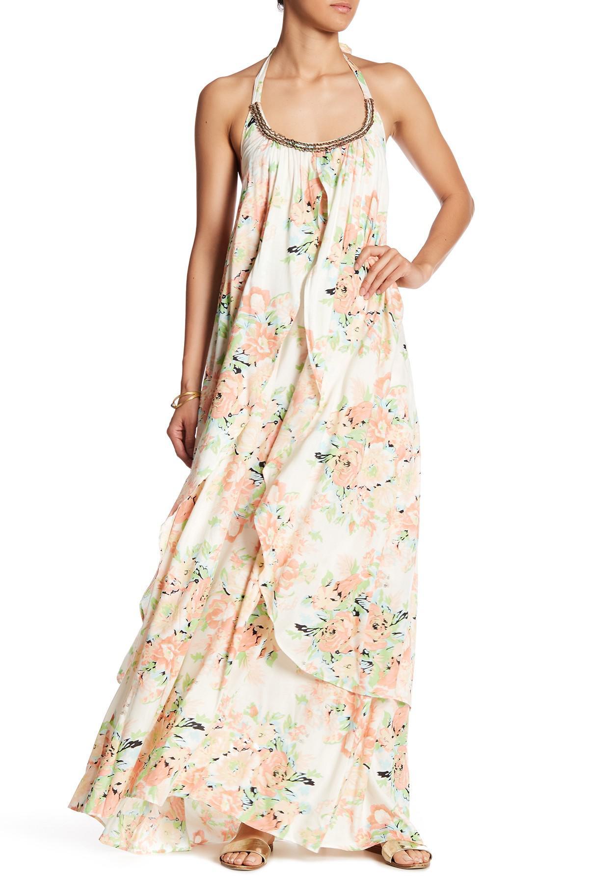 46b90015042 Lyst - Raga Garden Party Halter Maxi Dress